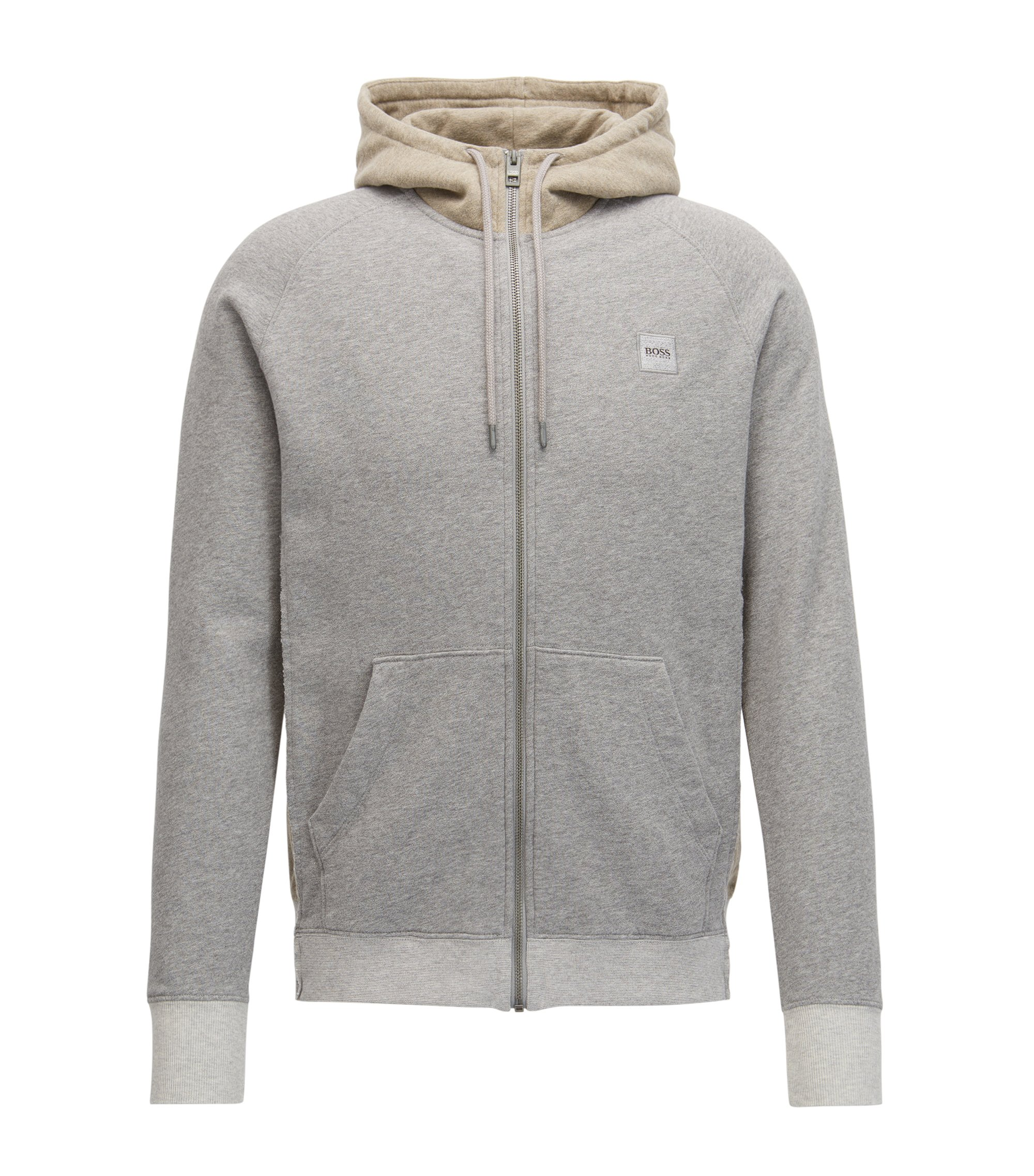French Terry Full-Zip Hoodie | Zteen, Light Grey