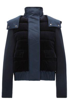 Relaxed-Fit Hooded Jacket | 'FS_Palela', Open Blue