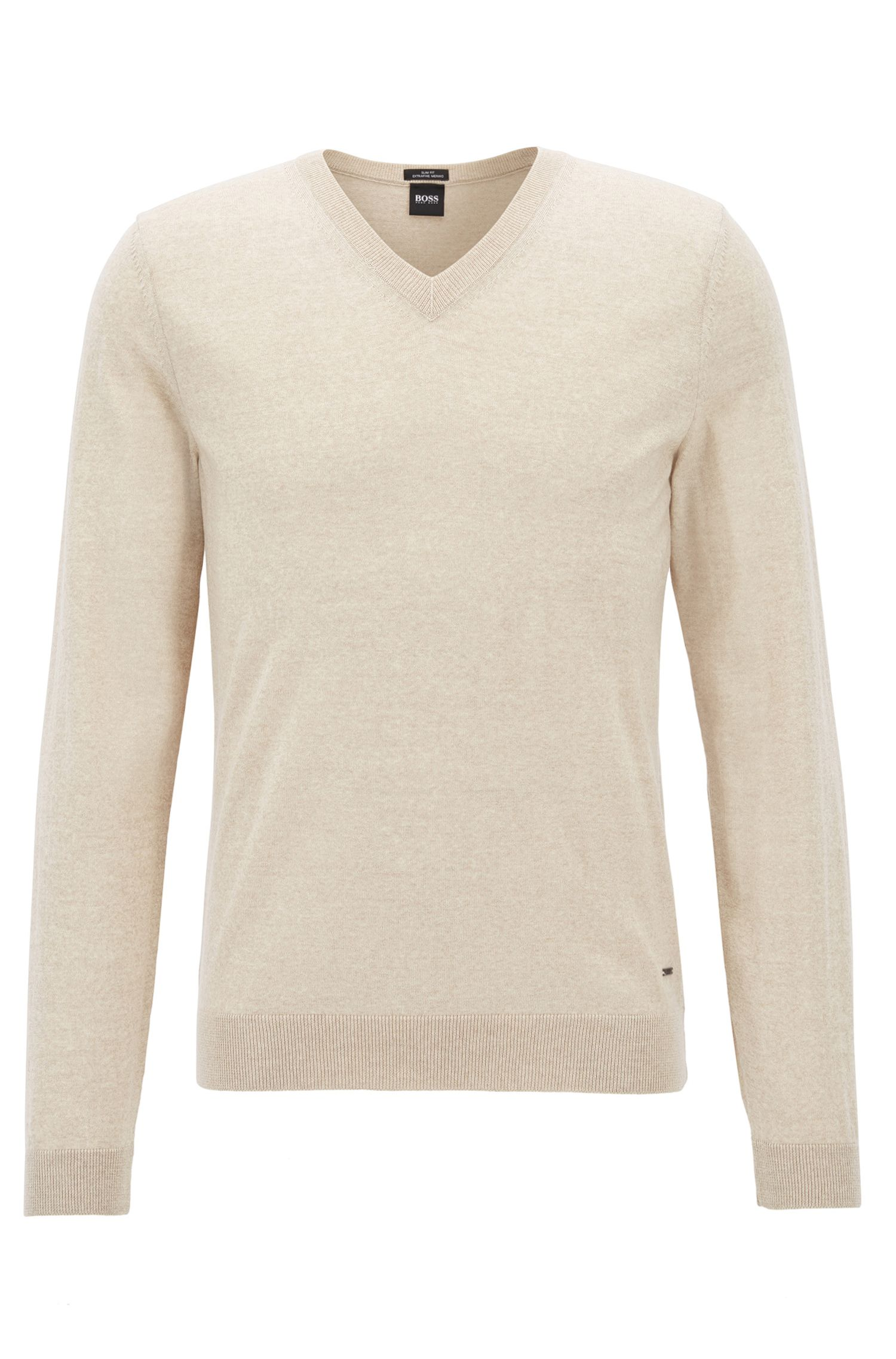 V-neck sweater in mulesing-free wool