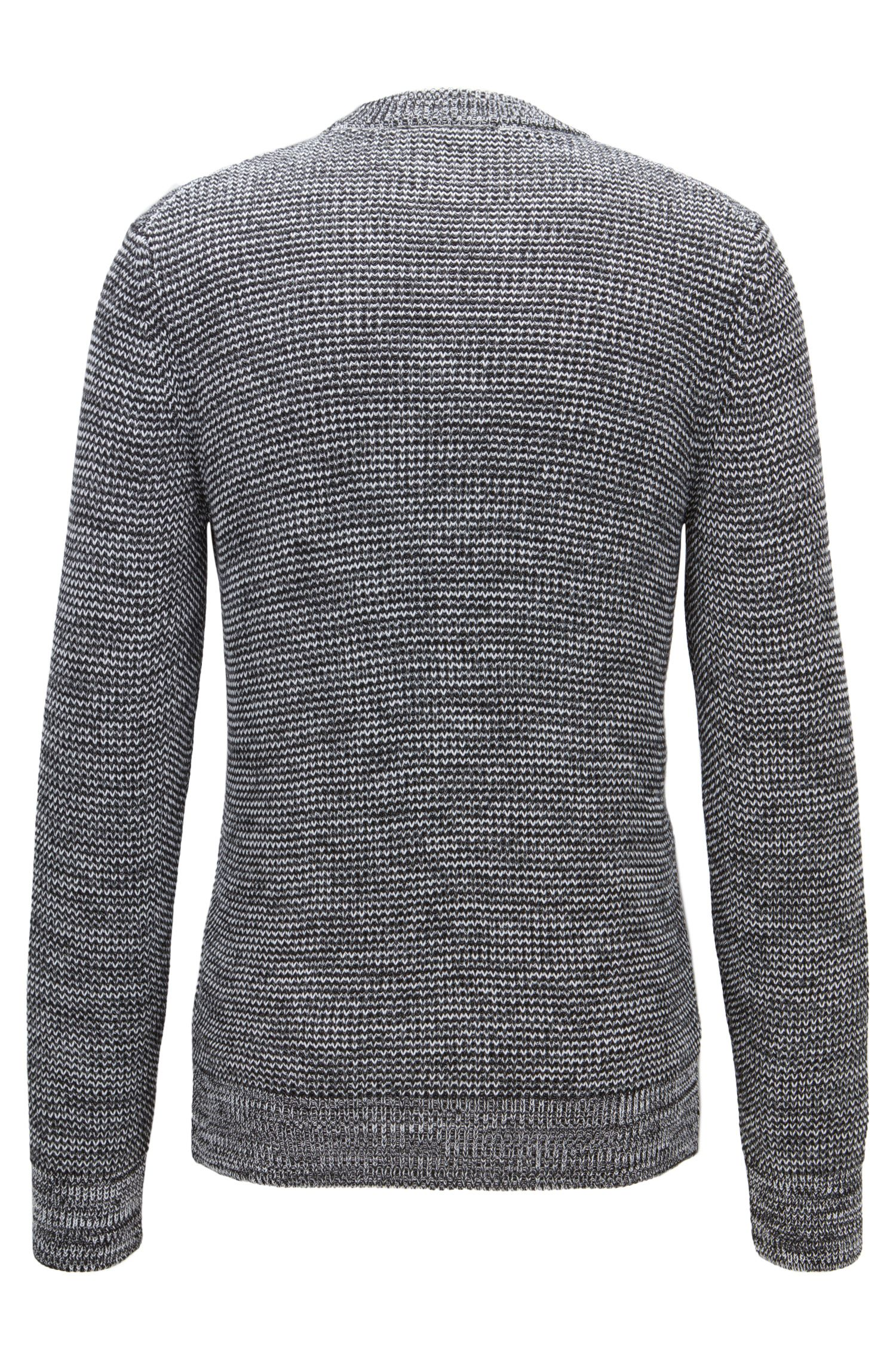 Mouline-Knit Cotton Sweater | Picot, Grey
