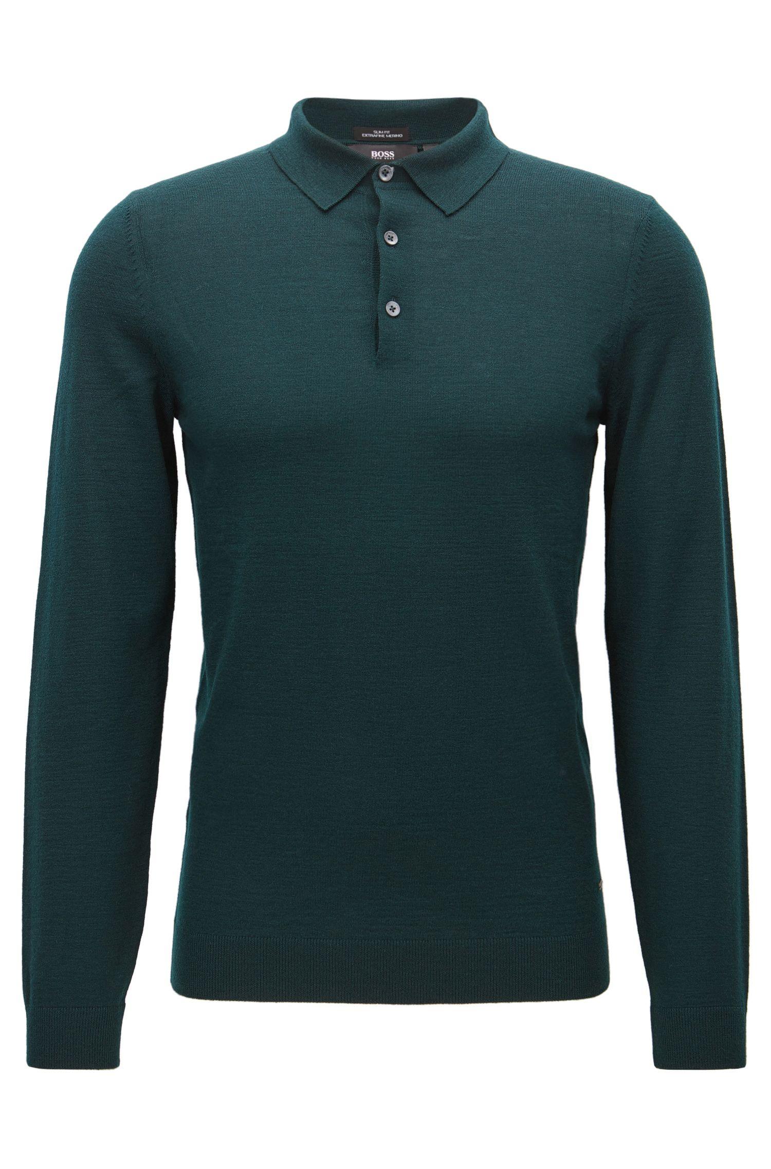 Merino Wool Polo Shirt, Slim Fit | Palasco