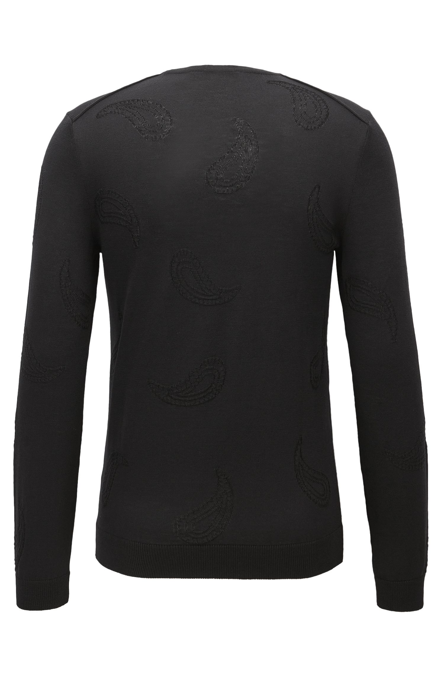 Paisley Jacquard Extra-Fine Merino Sweater   Pontes