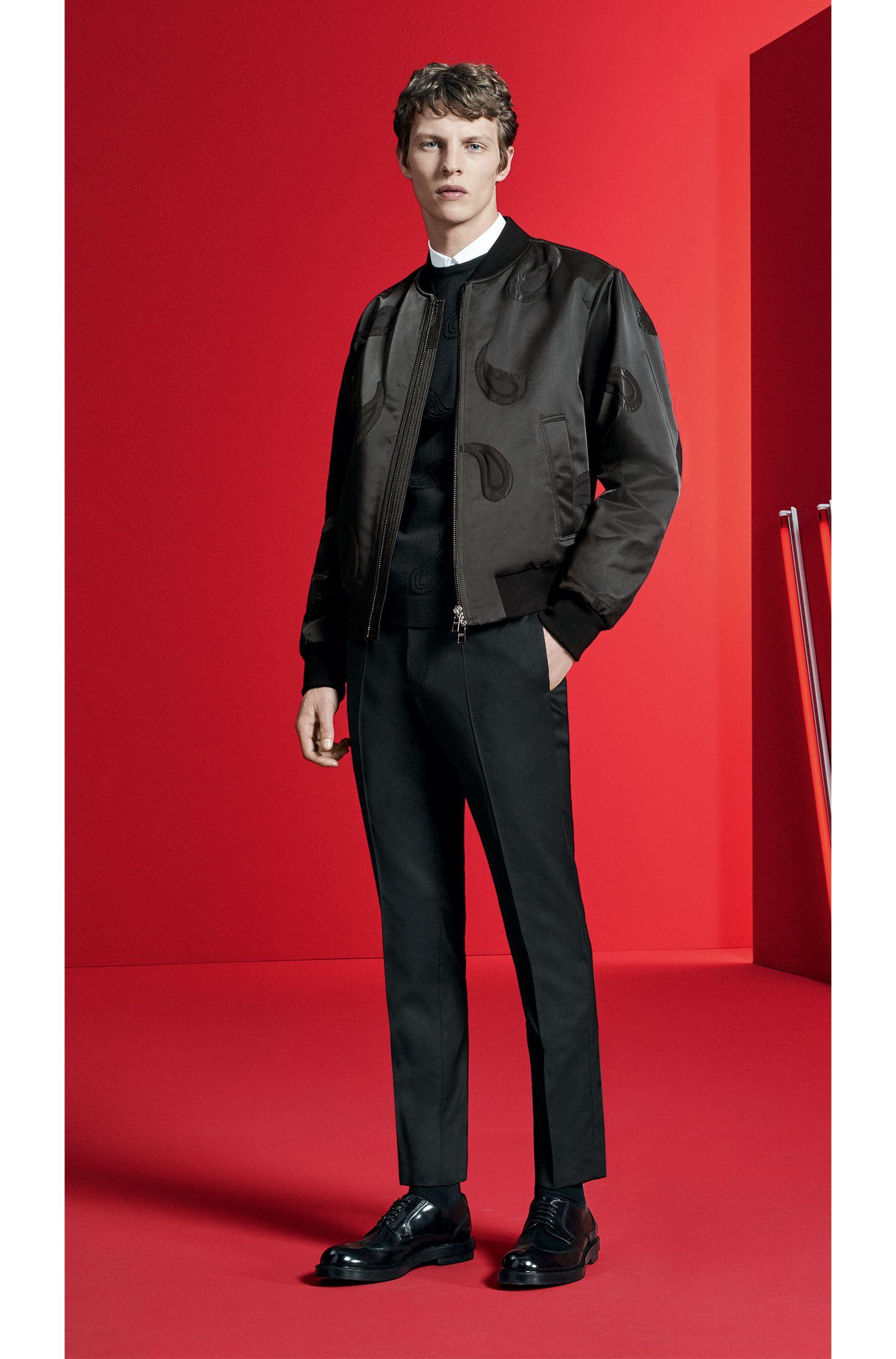 Paisley Jacquard Extra-Fine Merino Sweater | Pontes, Black