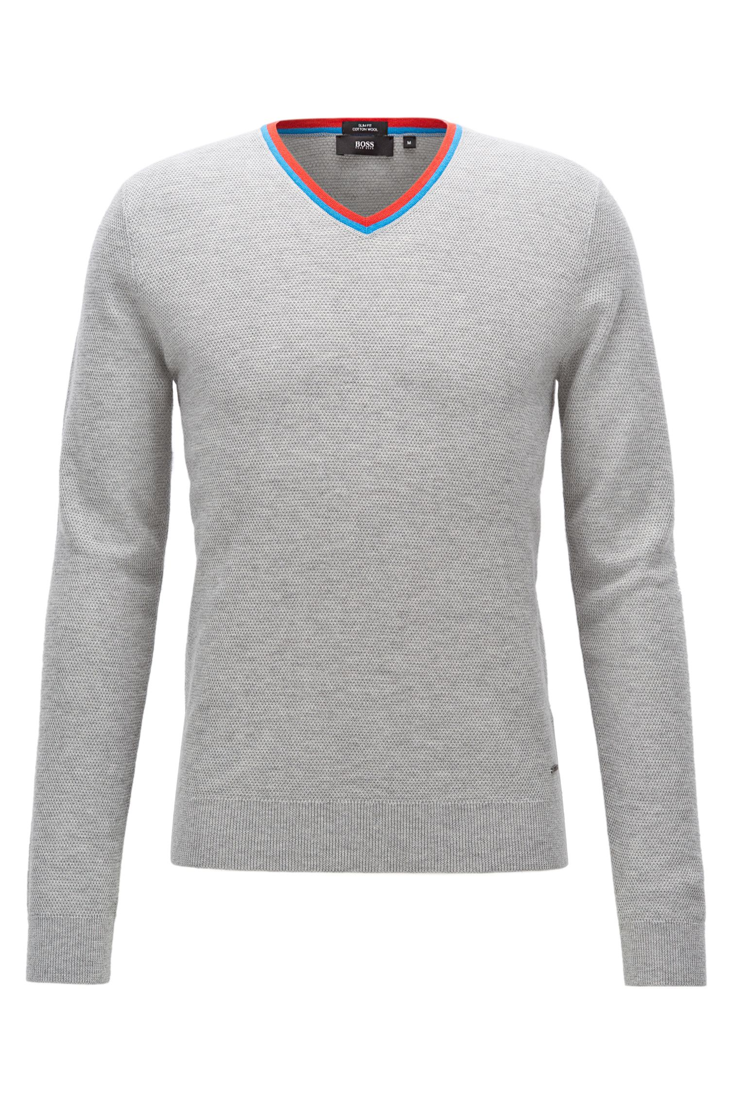 Cotton-Wool Sweater | Pellini, Open Grey
