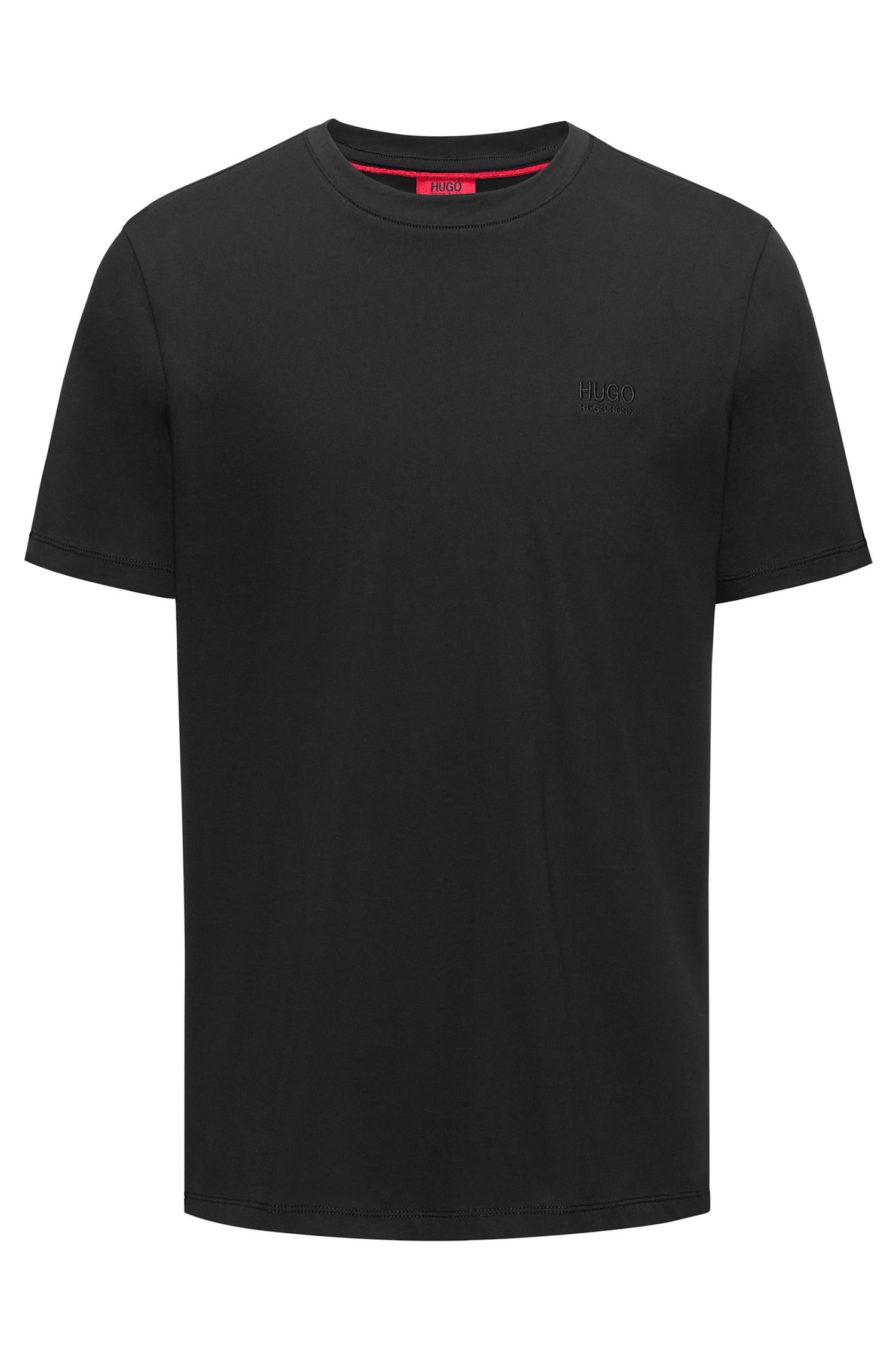 Regular-fit logo T-shirt in soft cotton, Black