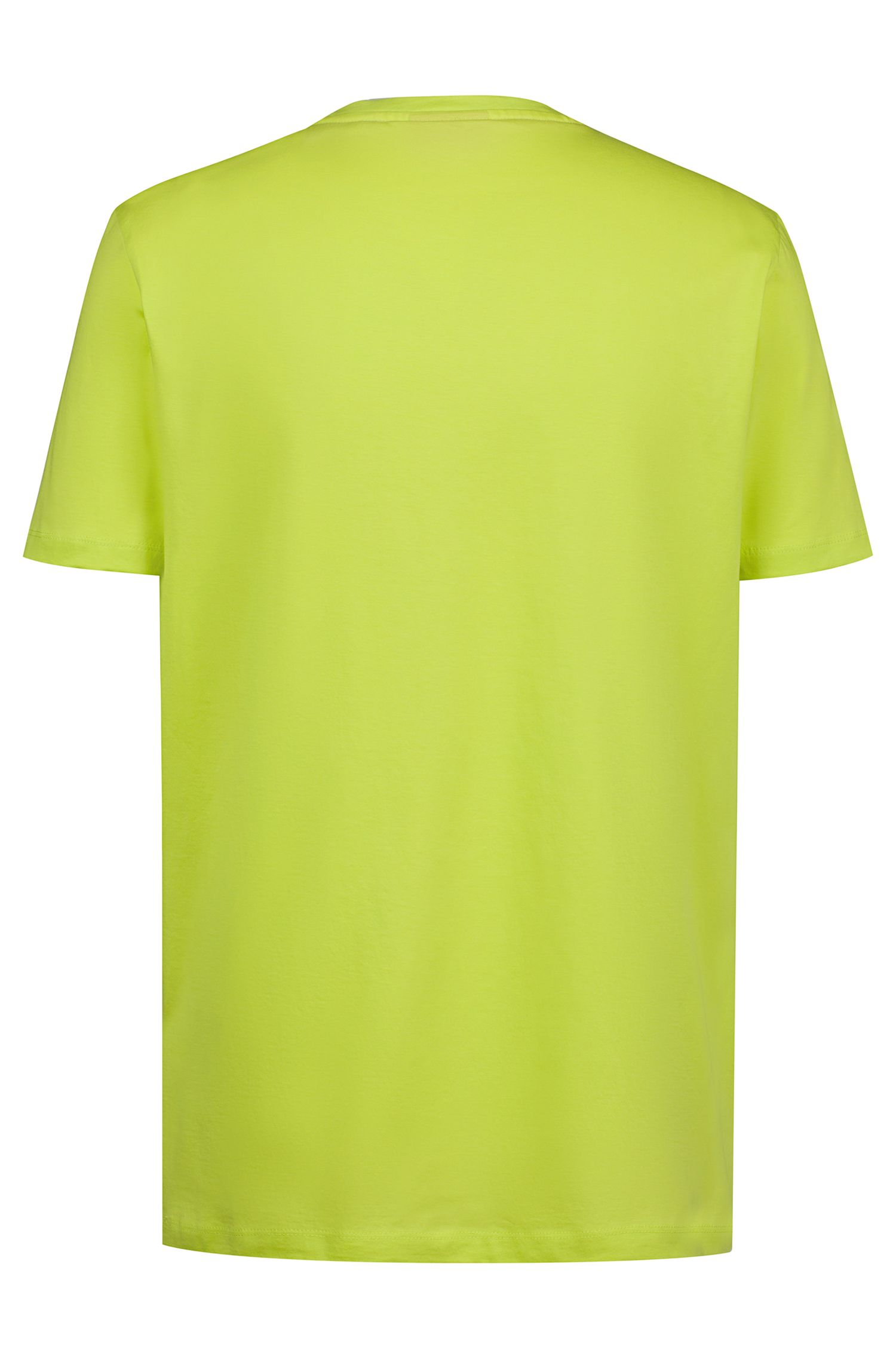 Regular-fit logo T-shirt in soft cotton, Yellow