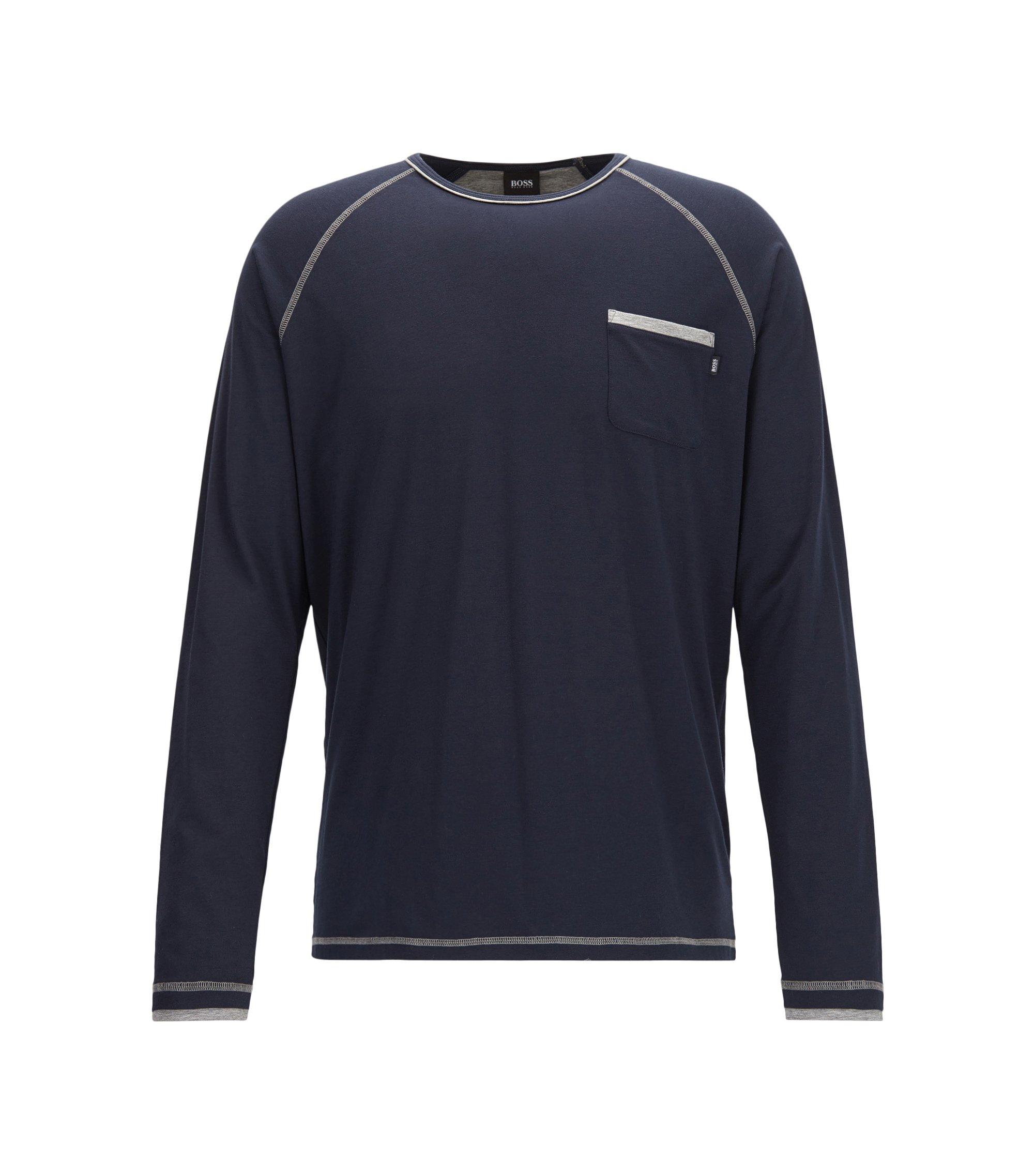 Stretch Jersey Long Sleeve T-Shirt | Balance LS Shirt RN, Dark Blue