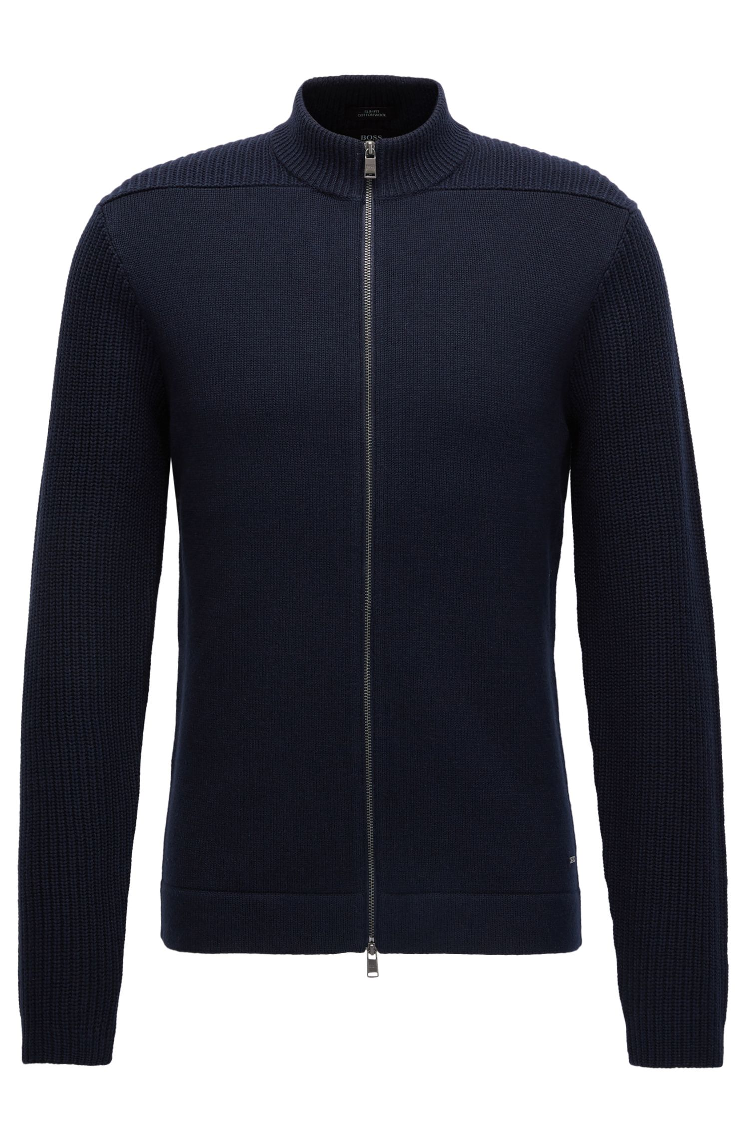 Cotton-Wool Full-Zip Jacket | Picetti