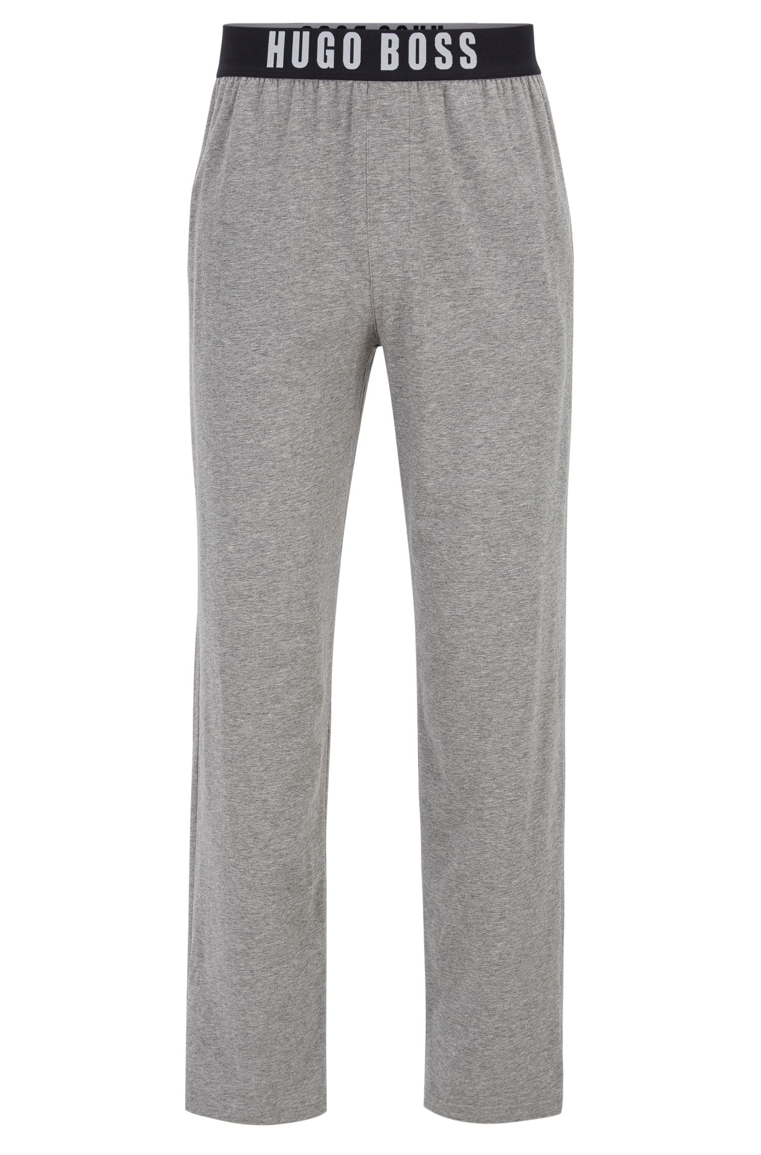 Logo-Banded Stretch Jersey Lounge Pant | Identity Pants, Grey