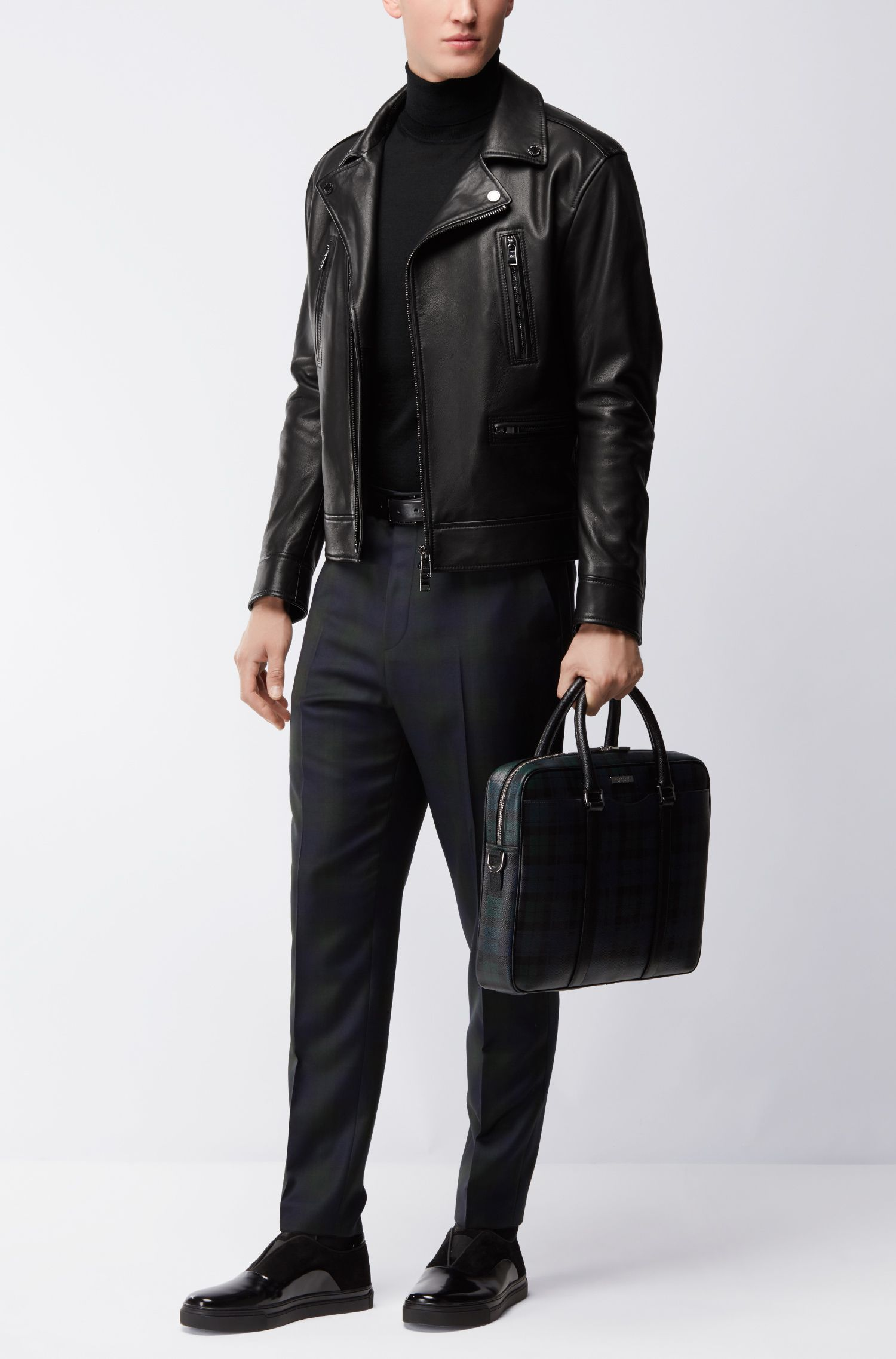 Nappa Leather Moto Jacket | Necko