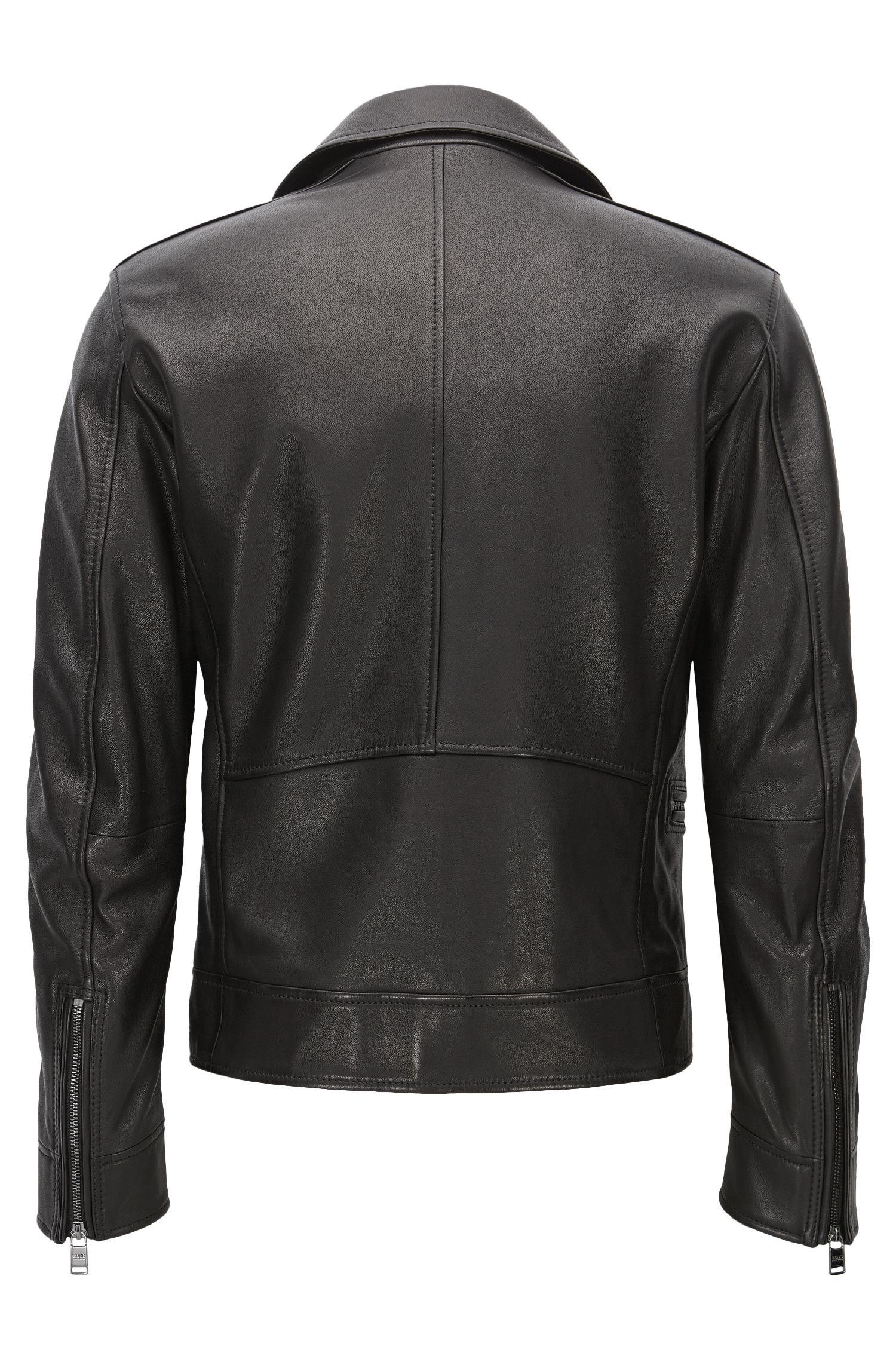 Nappa Leather Moto Jacket | Necko, Black