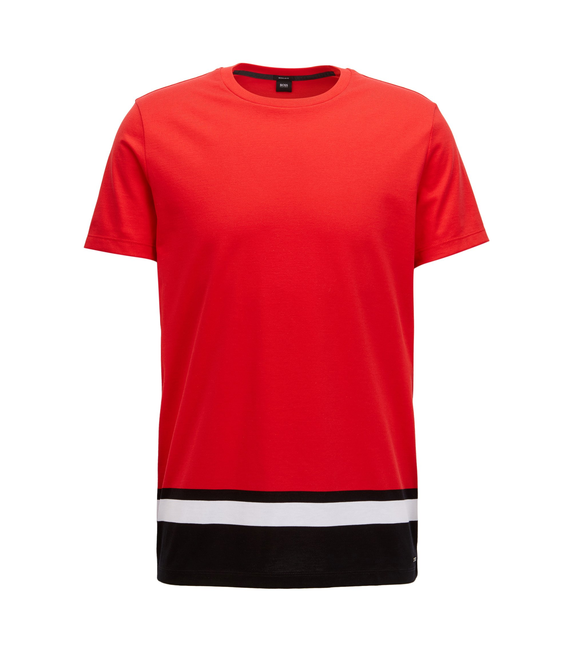 Colorblocked T-Shirt | Tiburt, Red