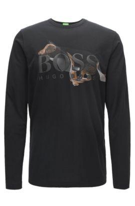 Logo-Embossed Cotton Shirt   Togn CNY, Black