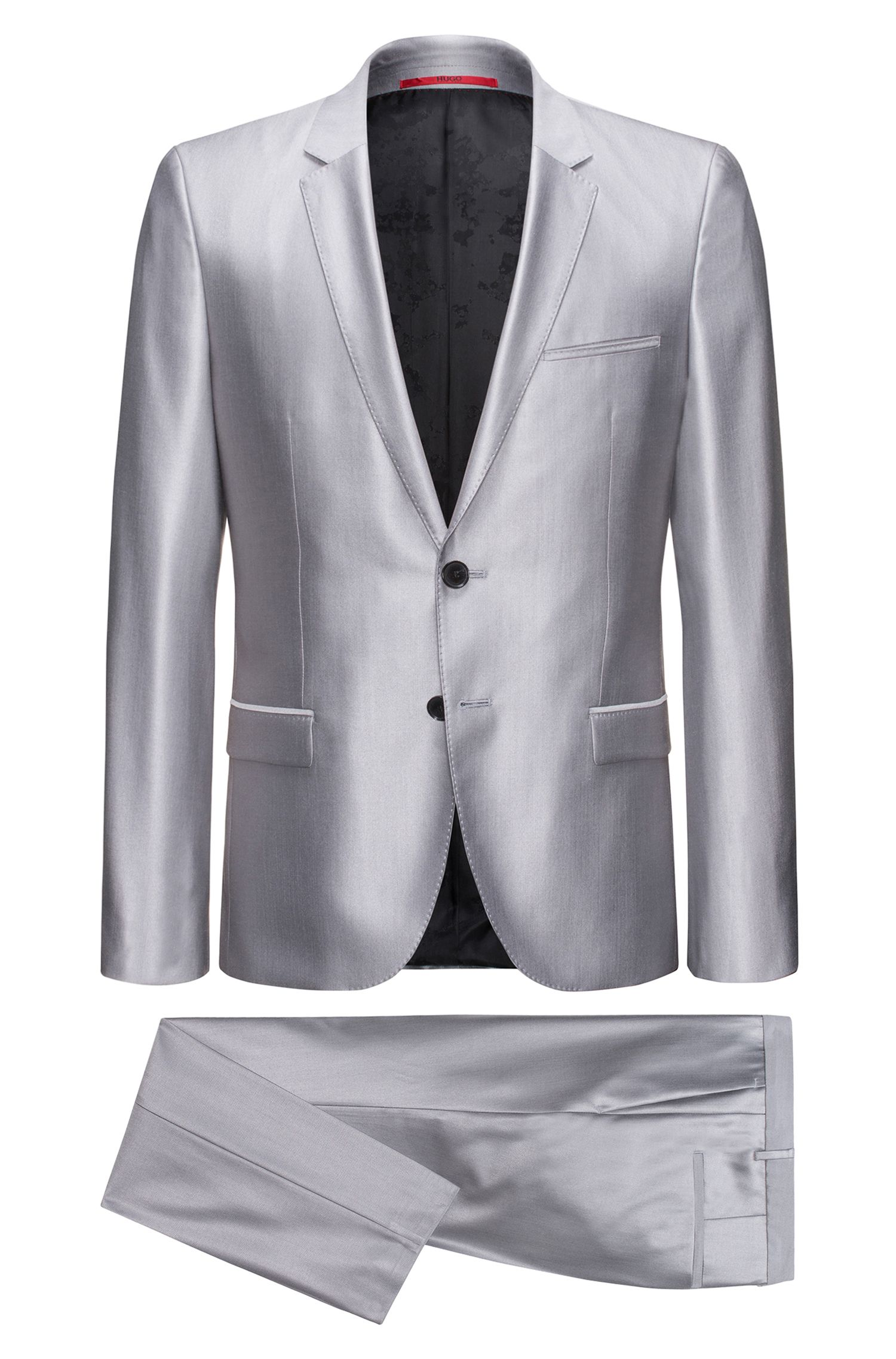 Virgin Wool-Silk Suit, Extra Slim Fit | Arti/Hesten