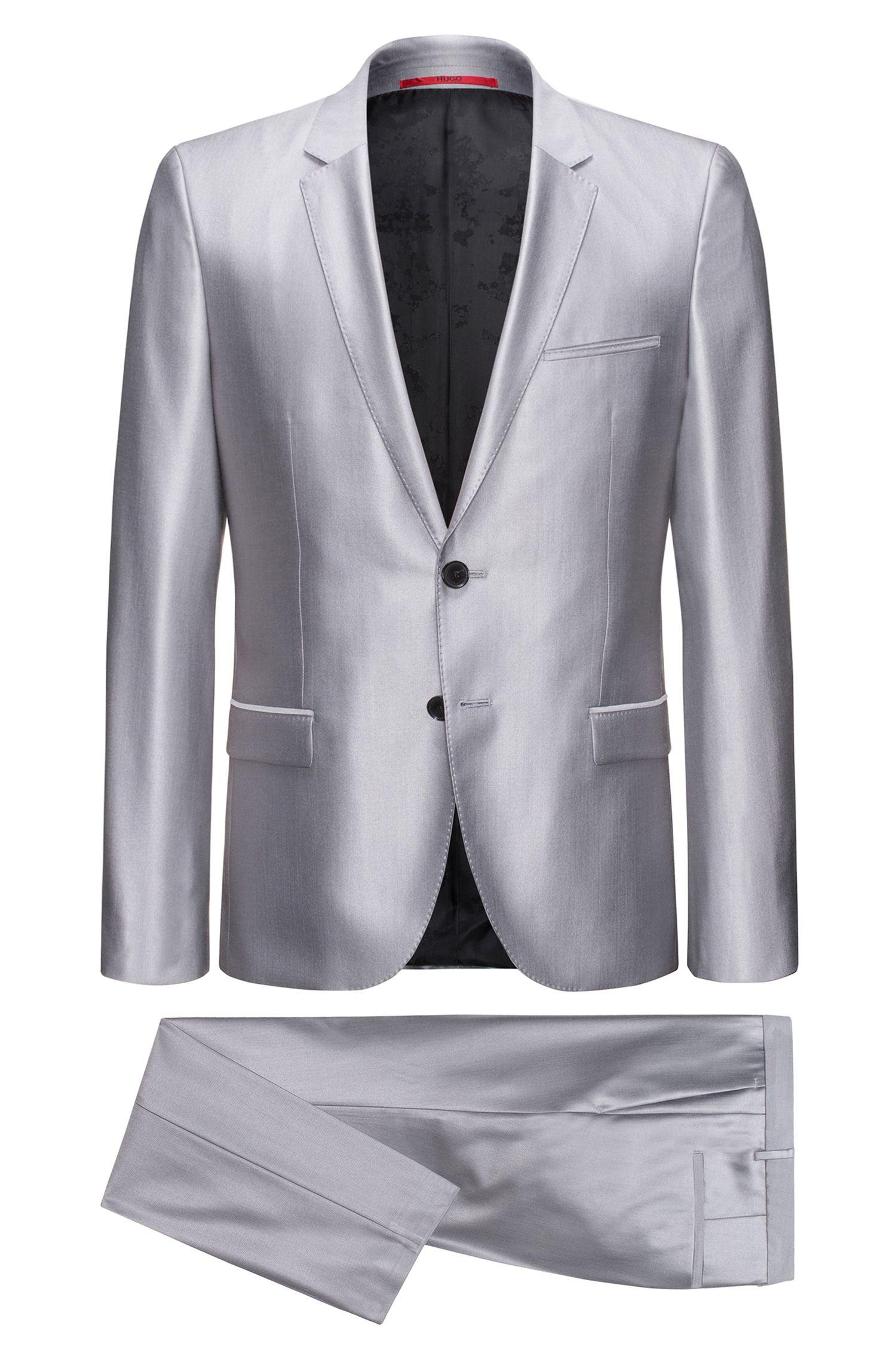 Virgin Wool-Silk Suit, Extra Slim Fit | Arti/Hesten