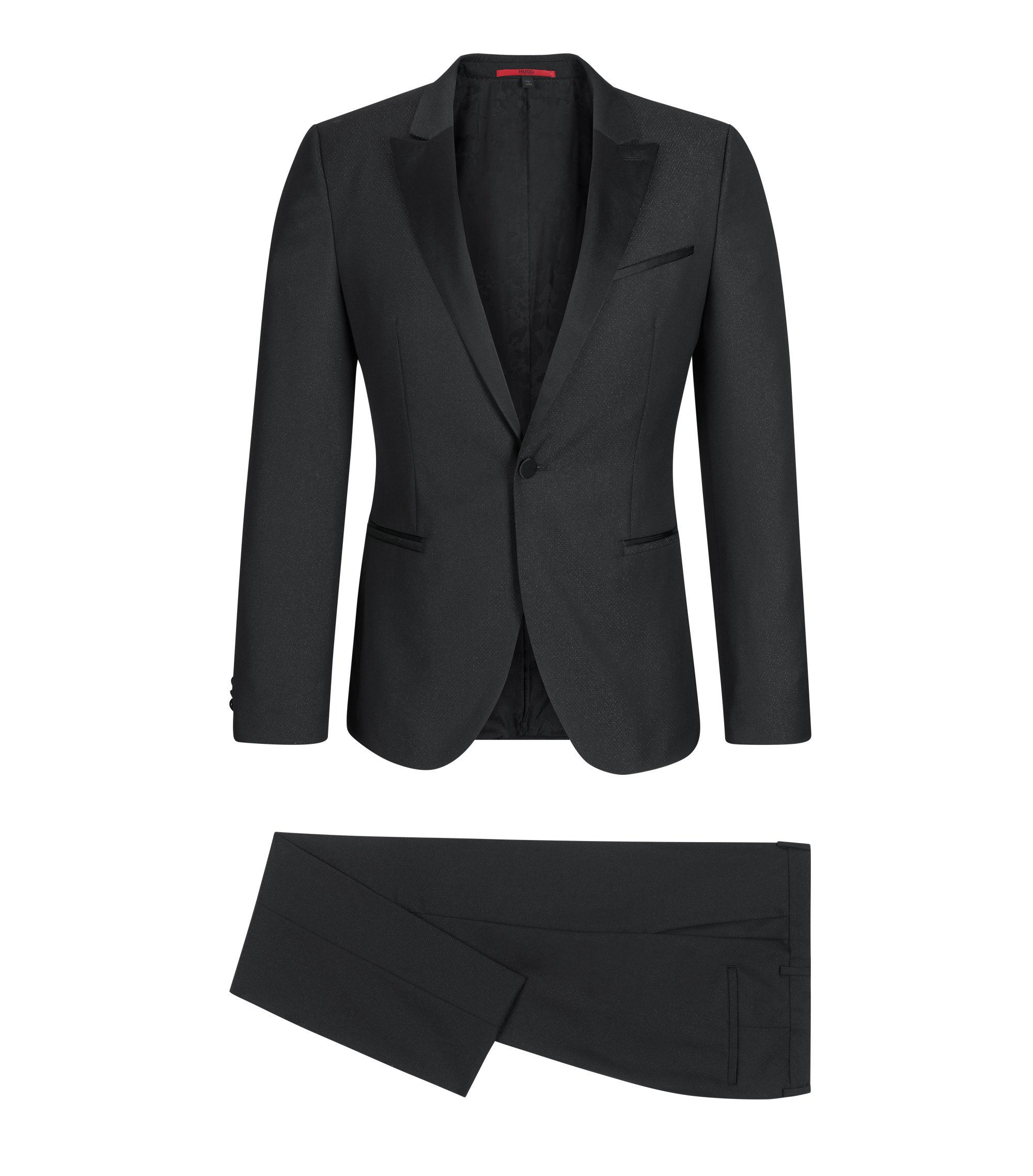 Wool Blend Tuxedo, Extra Slim Fit | Auerd/Himins, Black