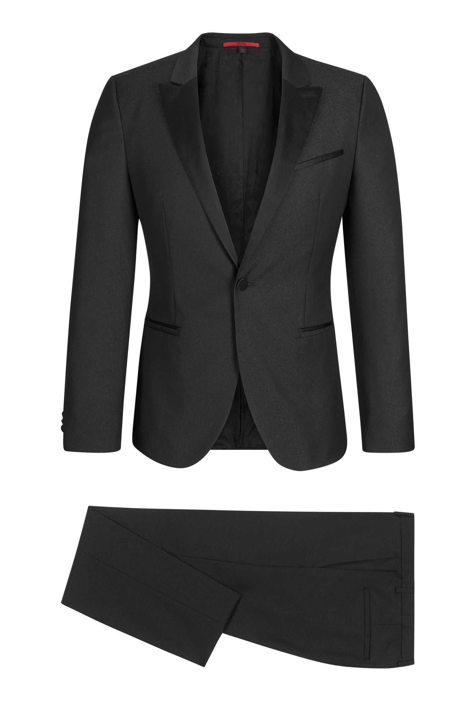 Wool Blend Tuxedo, Extra Slim Fit | Auerd/Himins
