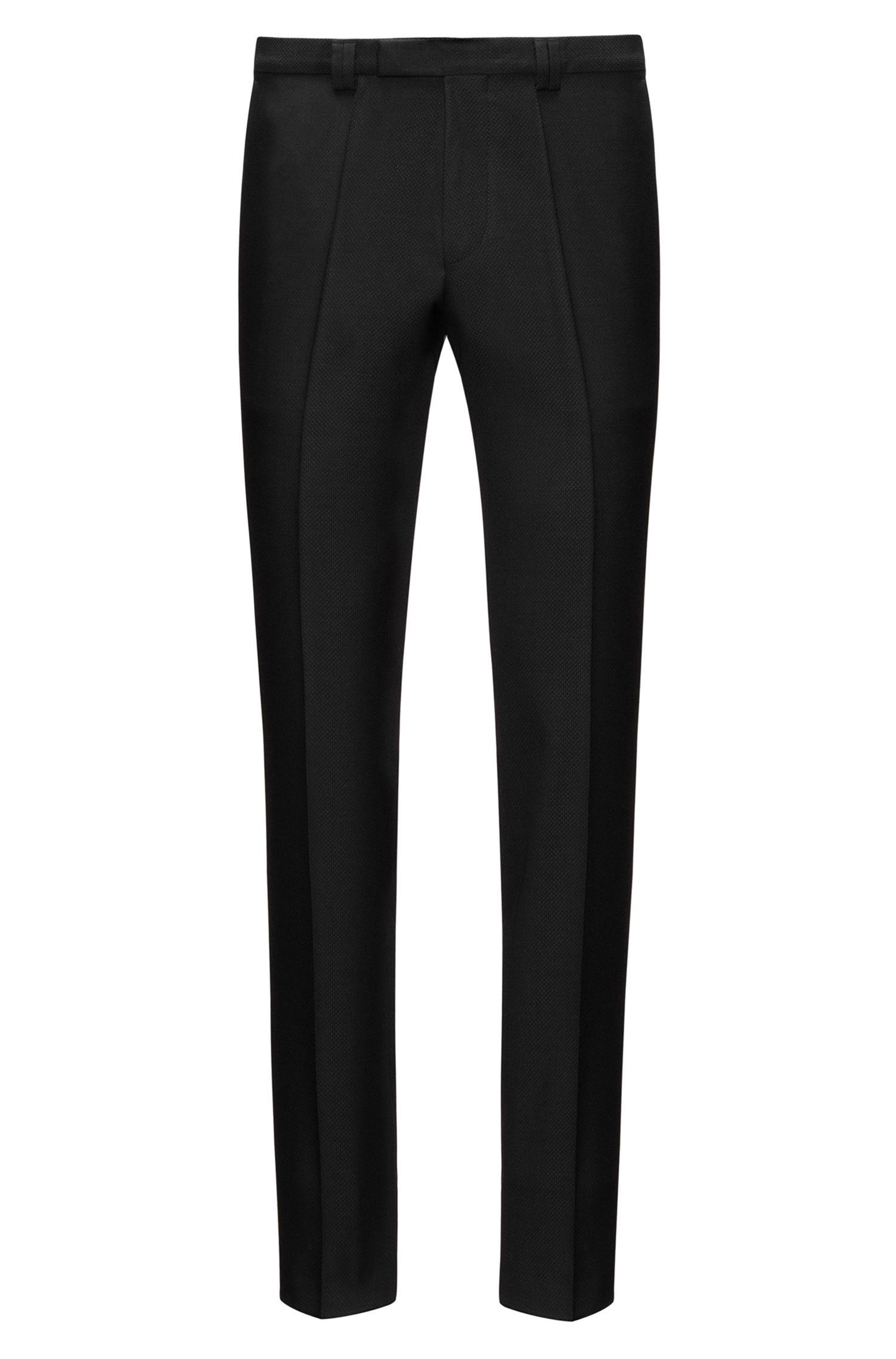 Diamond Woven Virgin Wool Pant, Extra Slim Fit   Hesten