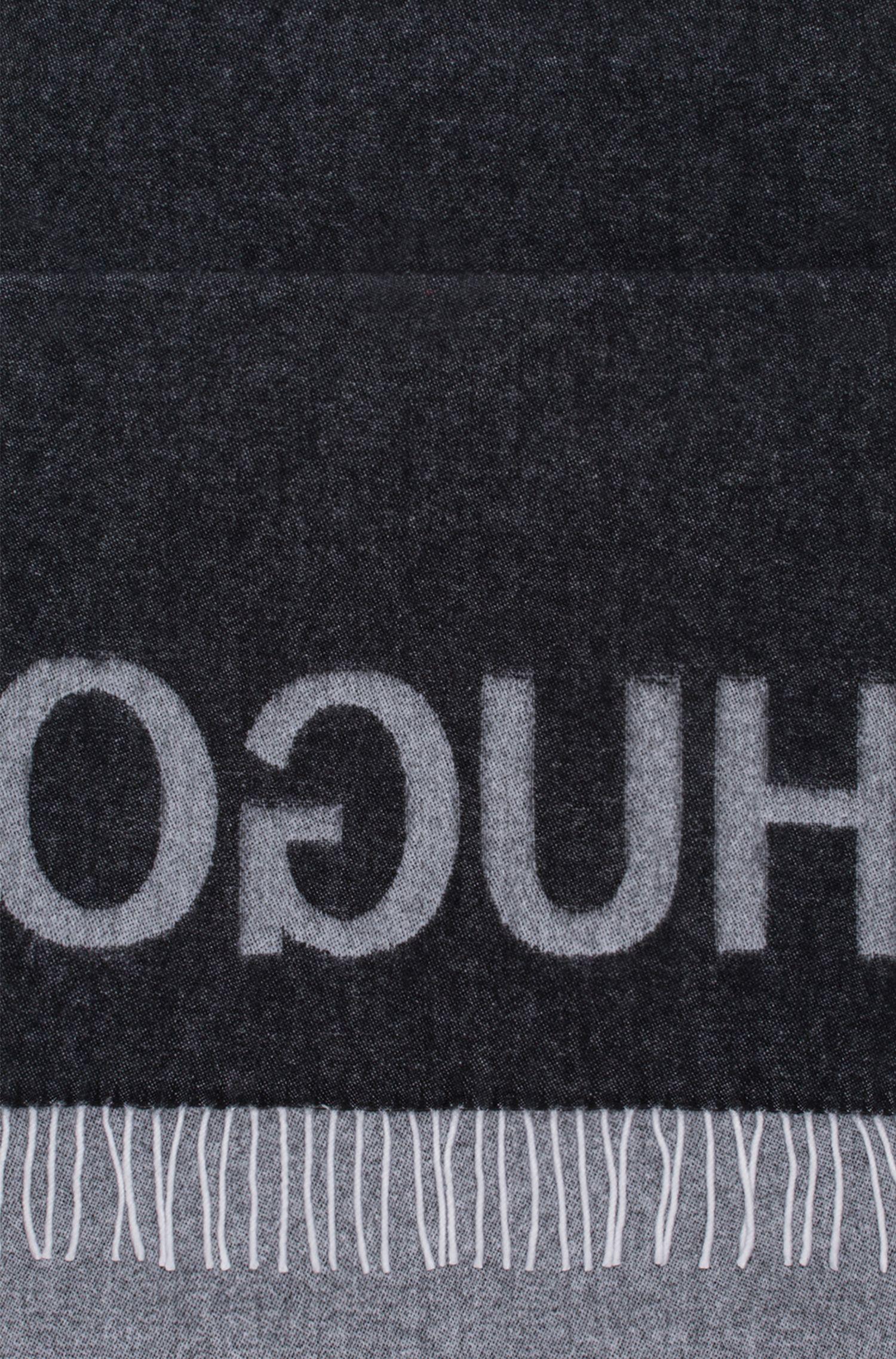 Virgin Wool Blend Scarf | Men Z, Black
