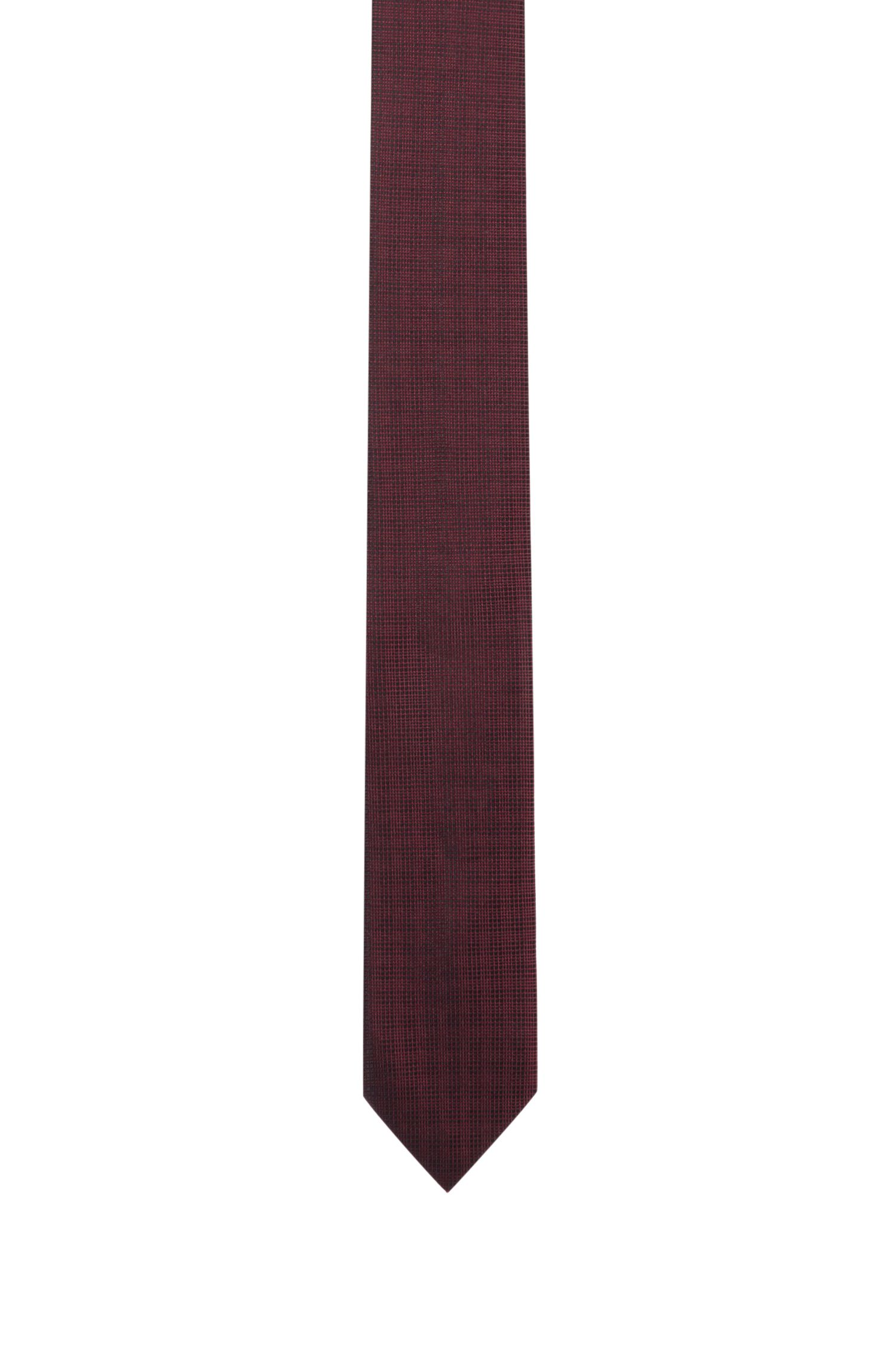 Plaid Italian Silk Slim Tie