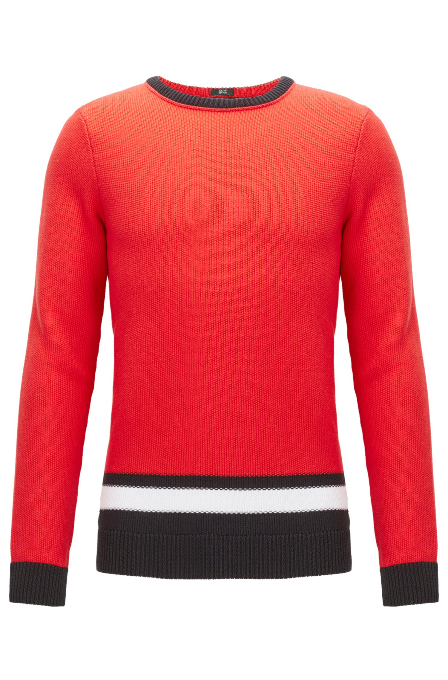 Colorblocked Cotton Sweater | Pagino