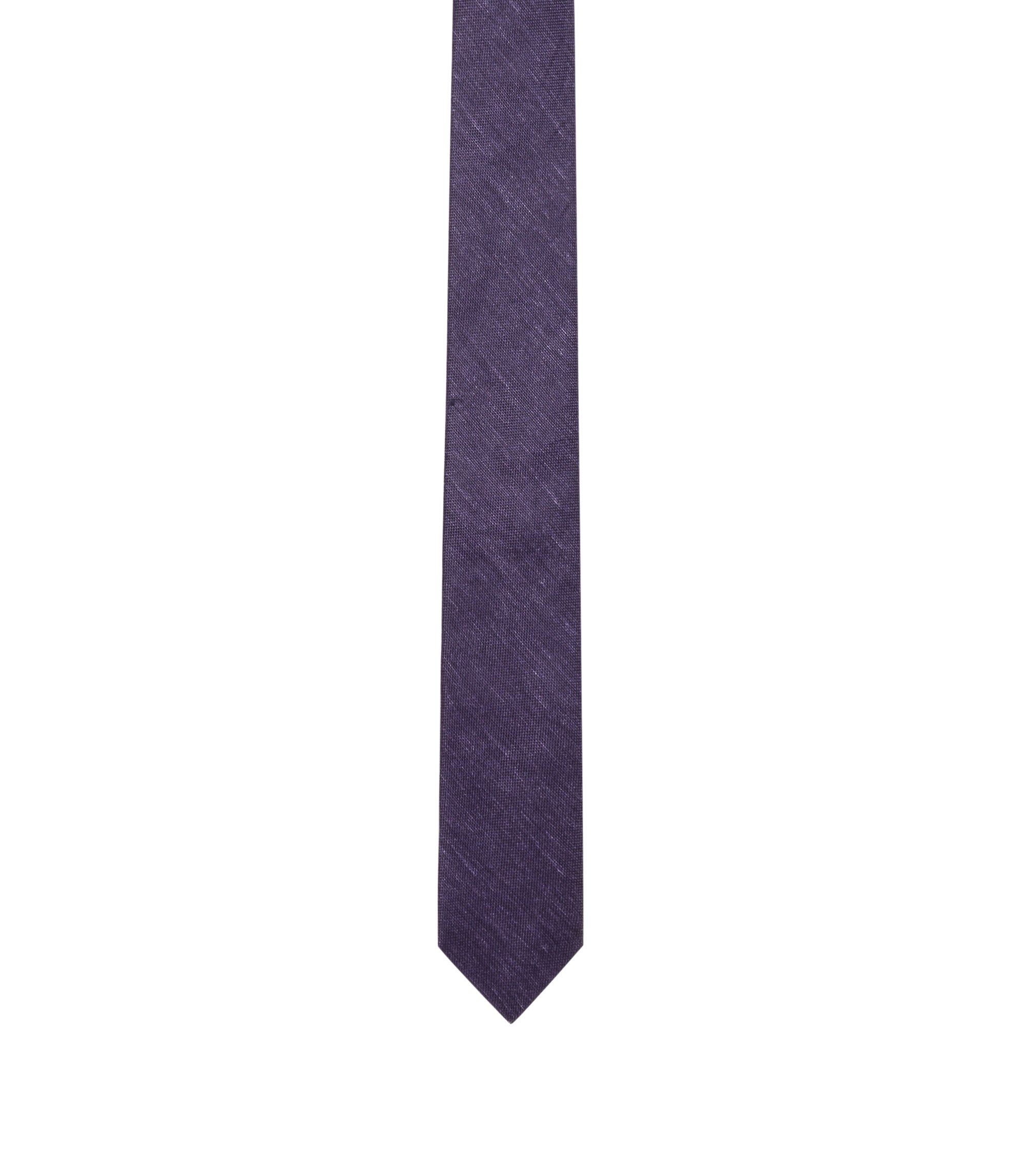 Yarn-Dyed Cotton Slim Tie, Dark Blue