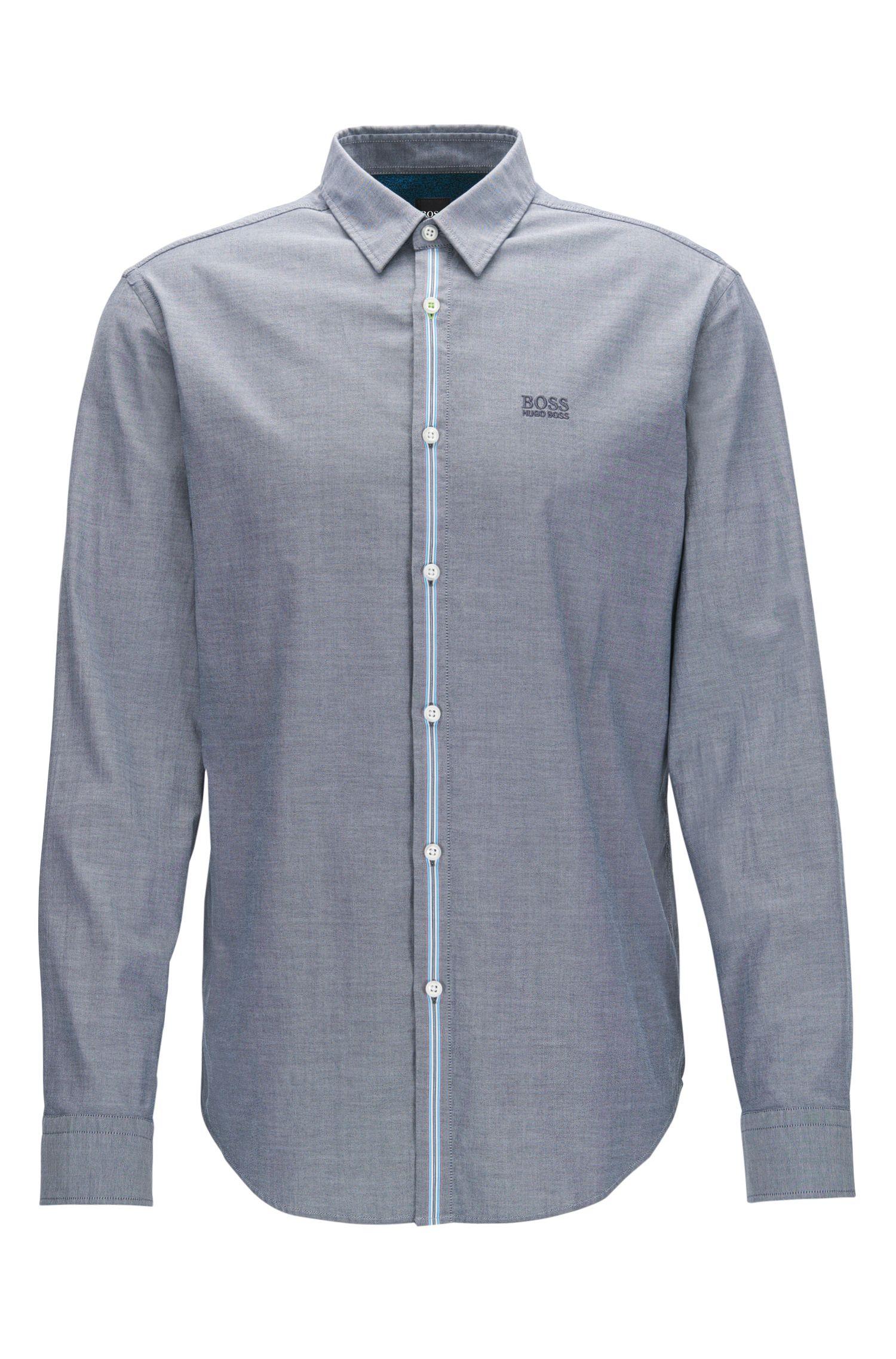 Stretch Cotton Sport Shirt, Regular Fit | Bisto R