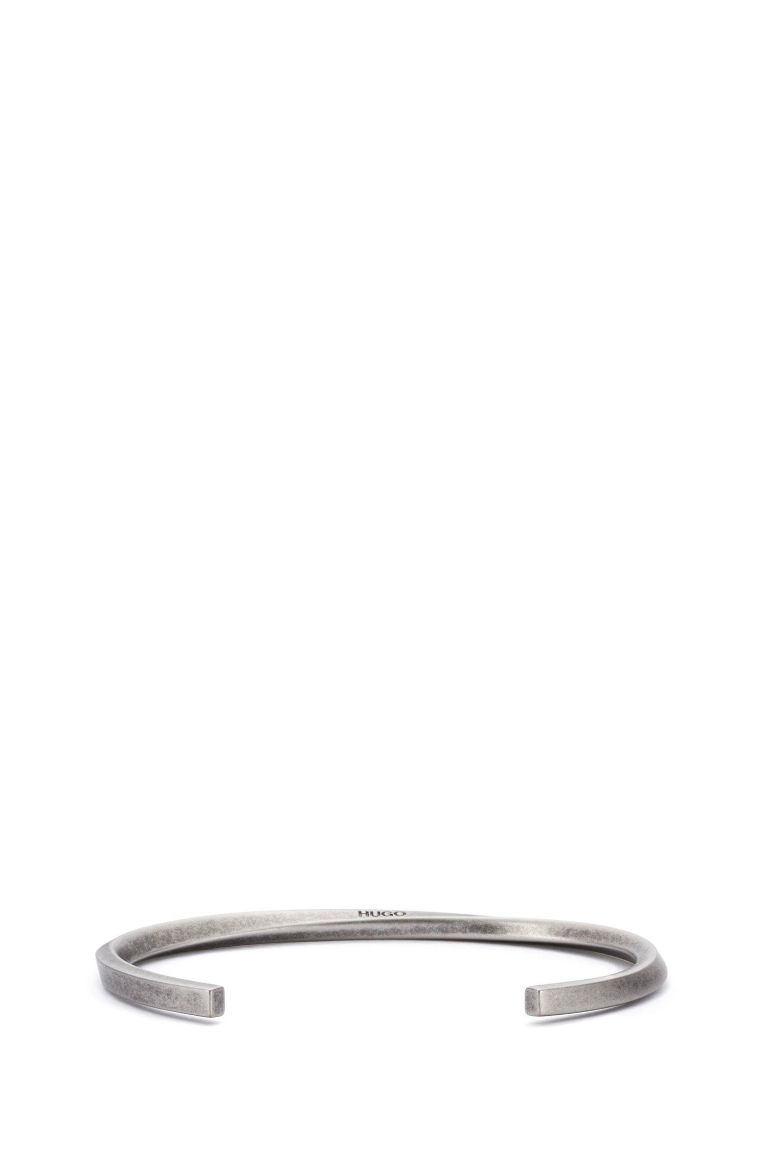 Brushed Brass Bangle | E-Squared Bangle, Silver