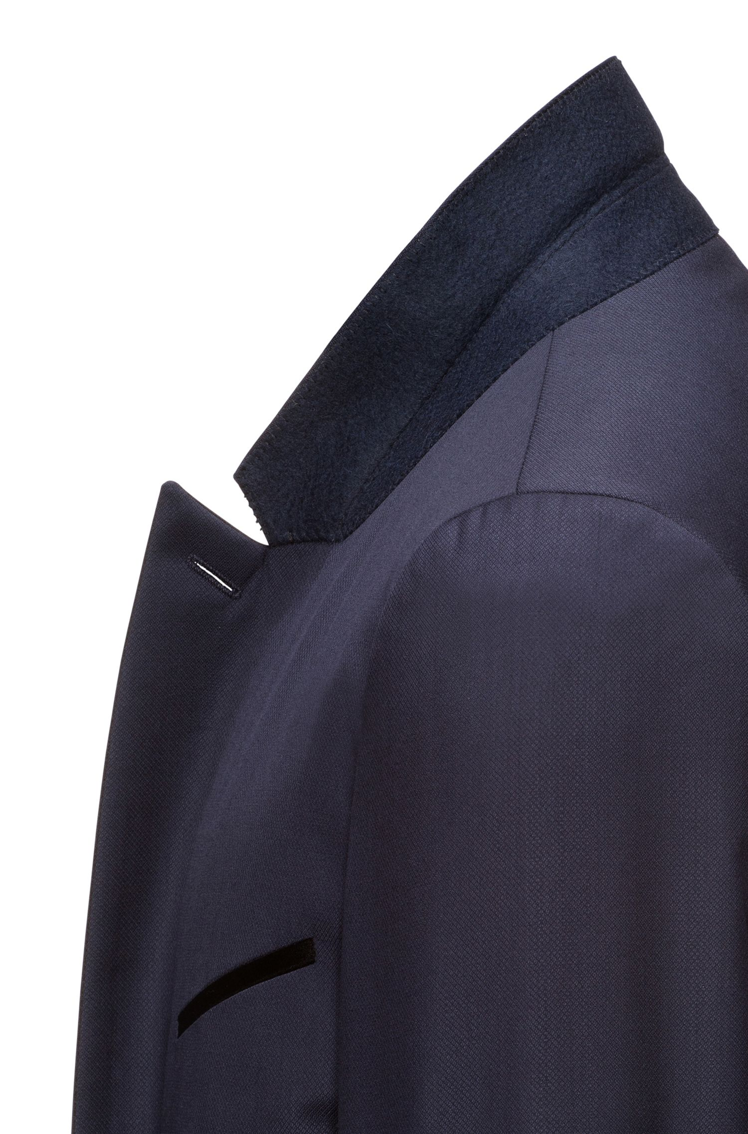 Wool Blend Tuxedo, Extra Slim Fit | Auerd/Himins, Dark Blue