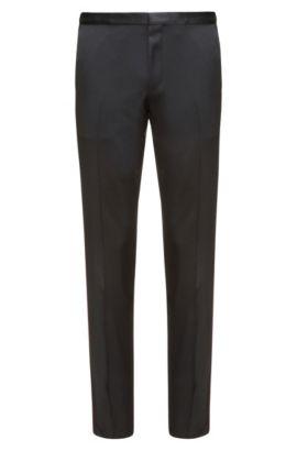 Virgin Wool Pant, Extra Slim Fit | Hemins, Black