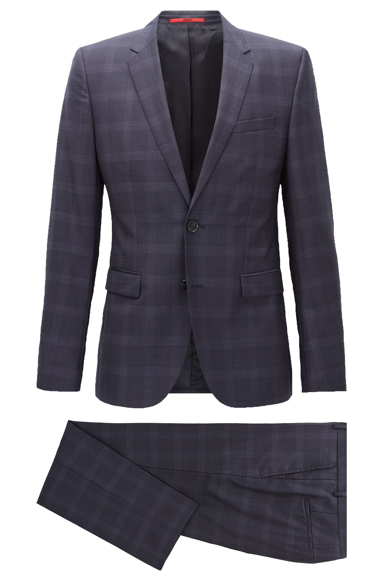 Checked Wool Suit, Extra Slim Fit | Astian/Hets