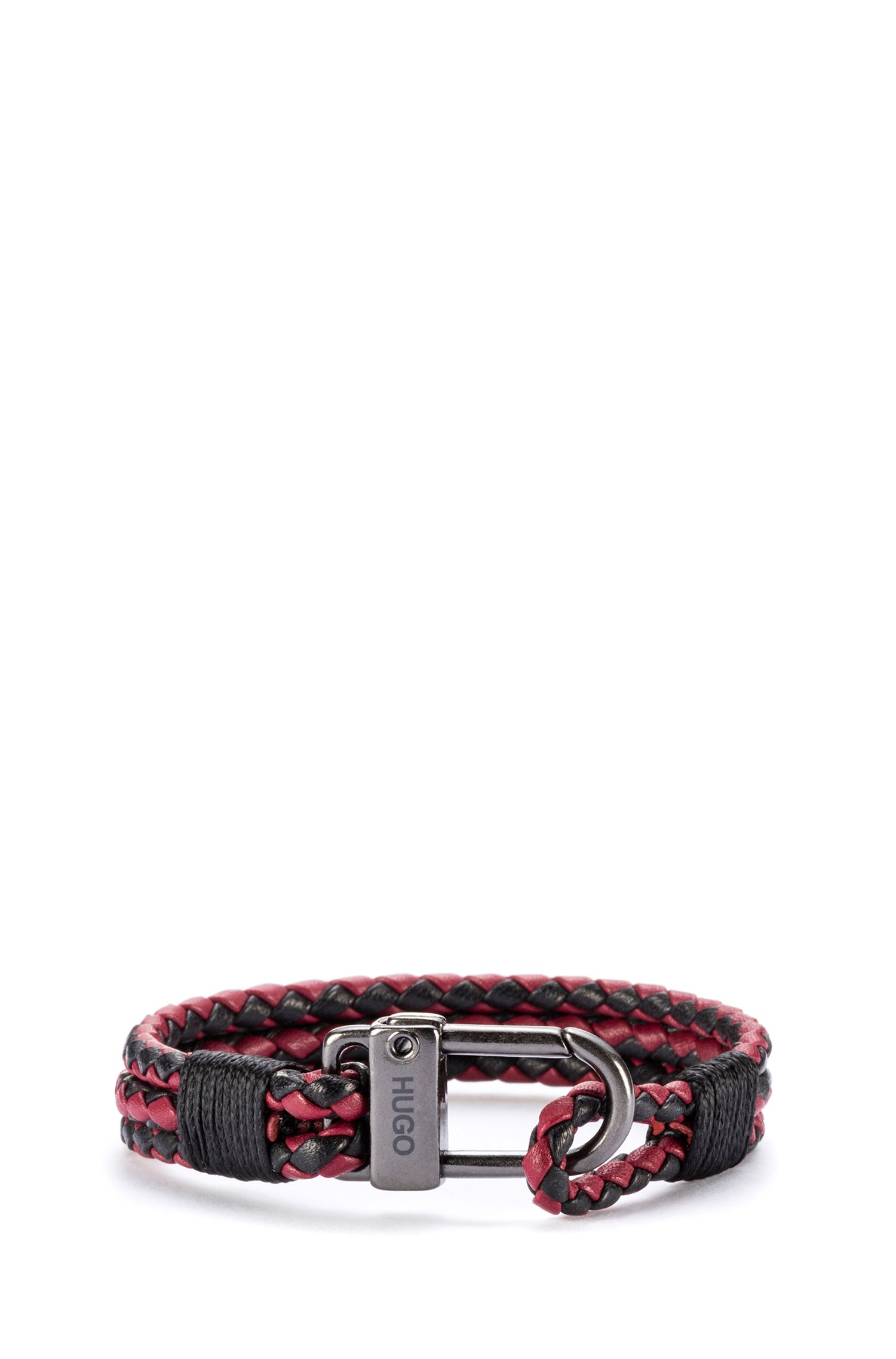 Braided Leather Bracelet | E-Hook, Patterned
