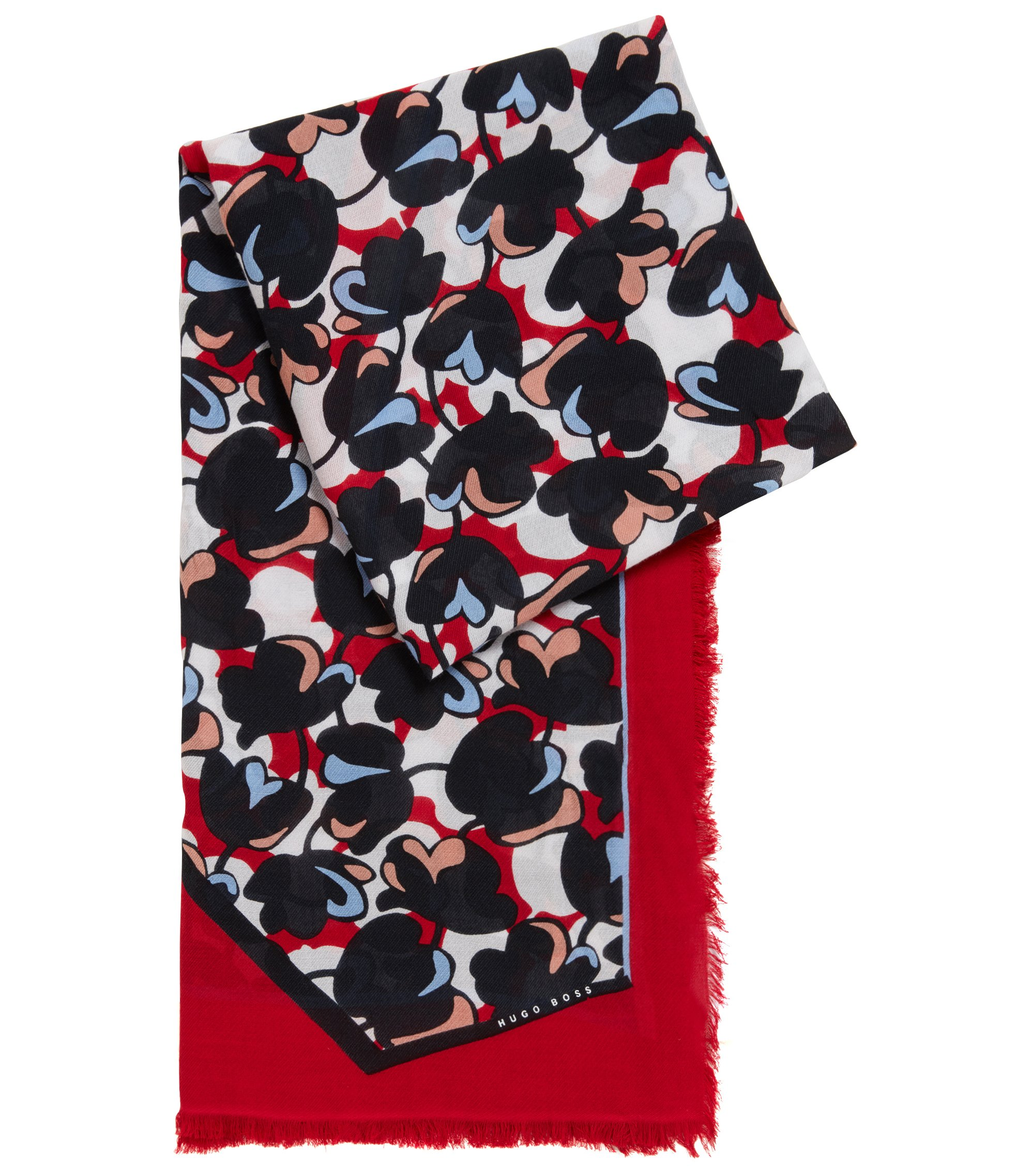 Floral Stretch Scarf   Larrie, Patterned