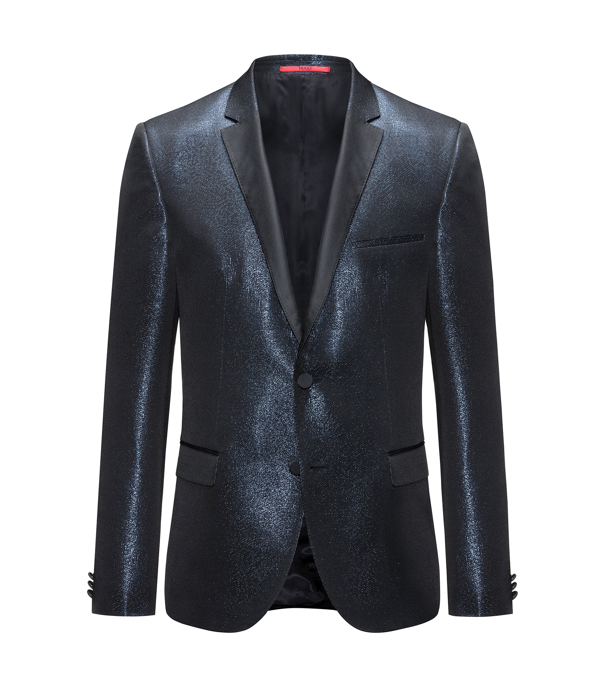 Metallic Sport Coat. Extra Slim Fit | Artins, Dark Blue