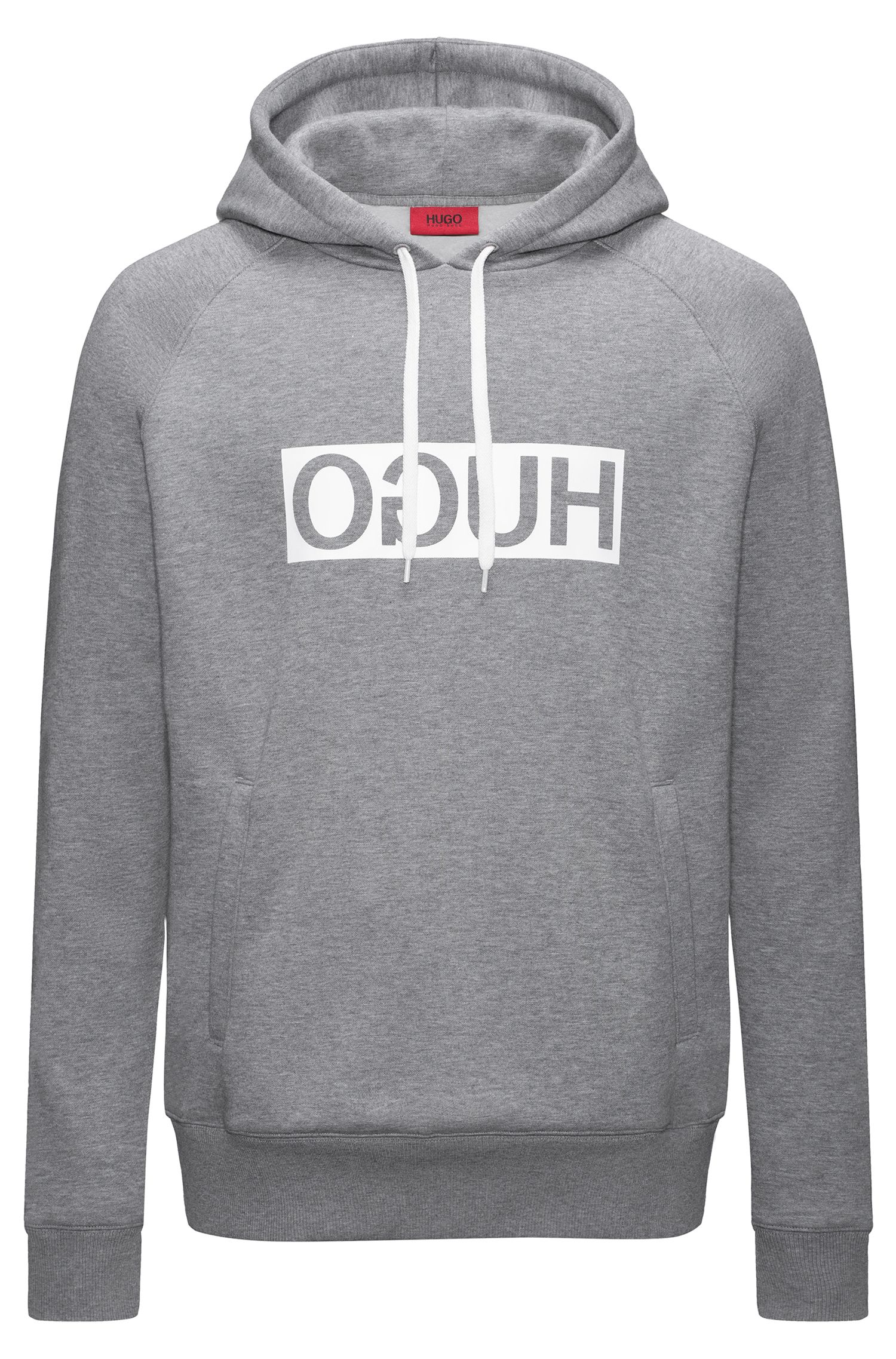 Logo Fleece Hooded Sweatshirt | D/Unisex, Grey