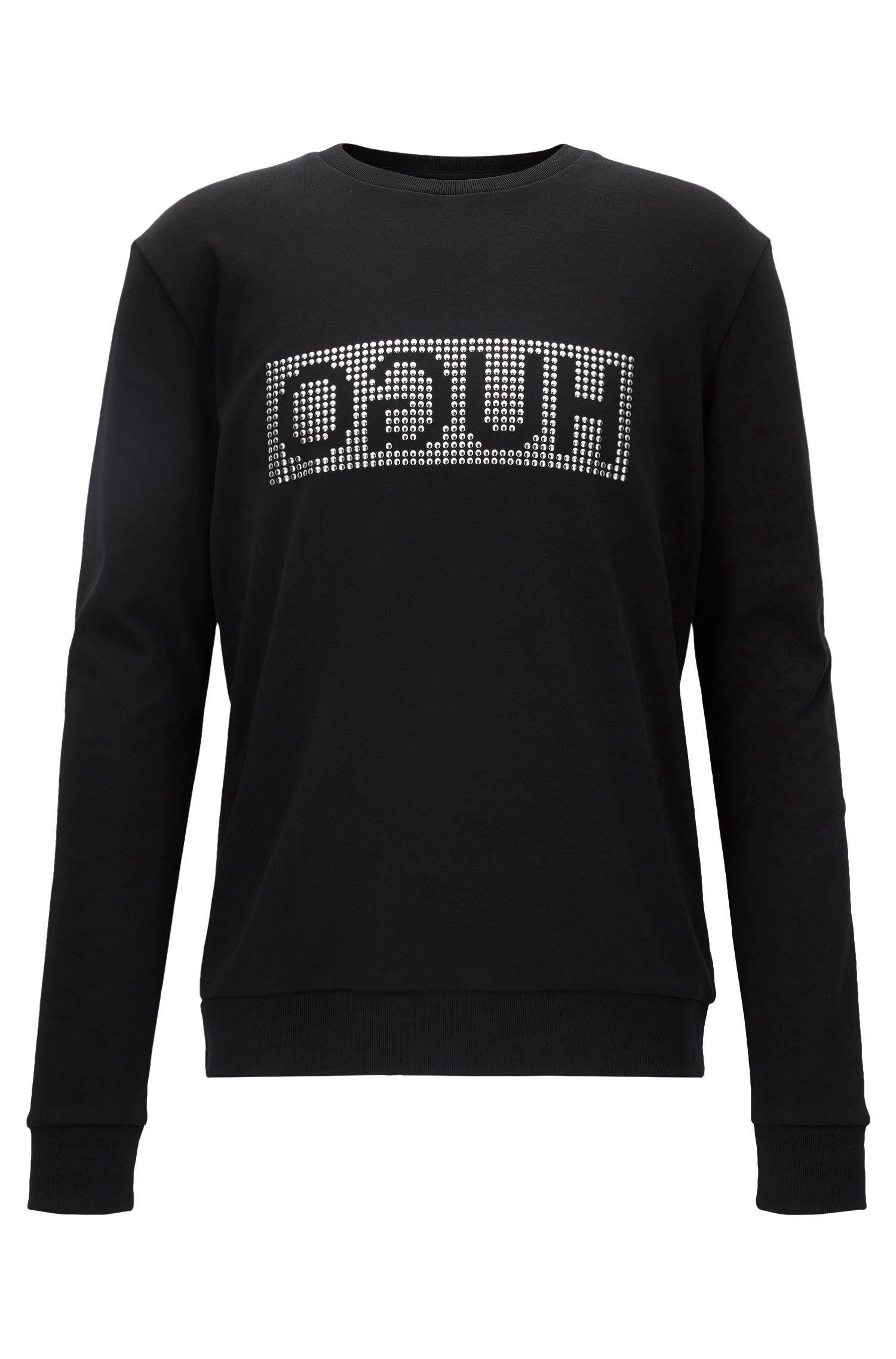 Studded-Logo Cotton Sweatshirt | Dicagolo