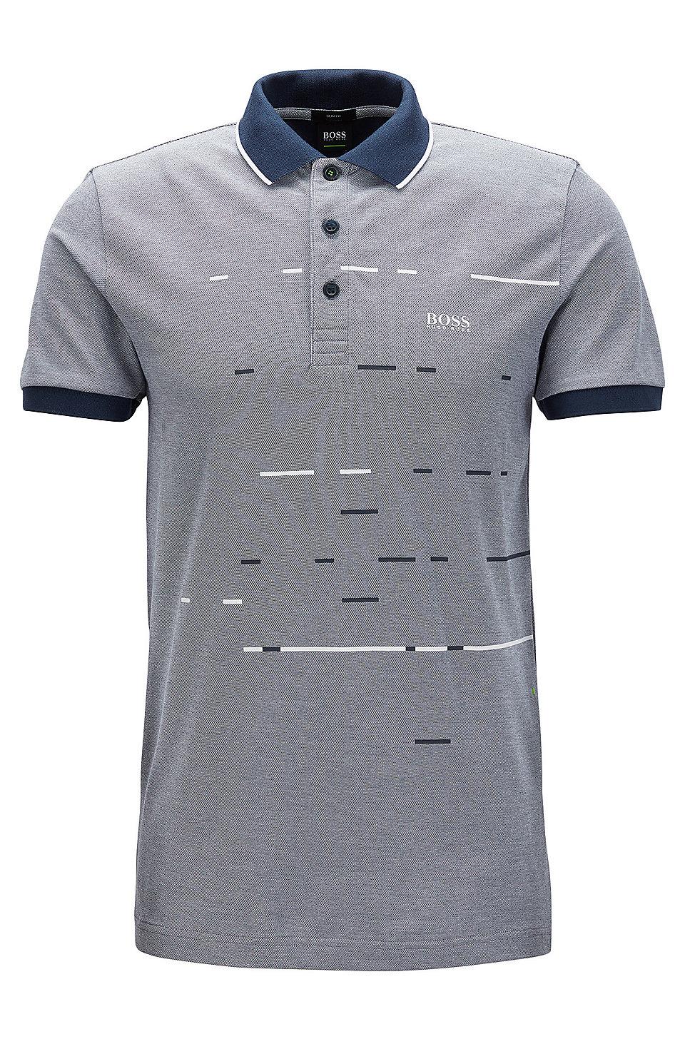 Boss Cotton Blend Polo Shirt Slim Fit Paule