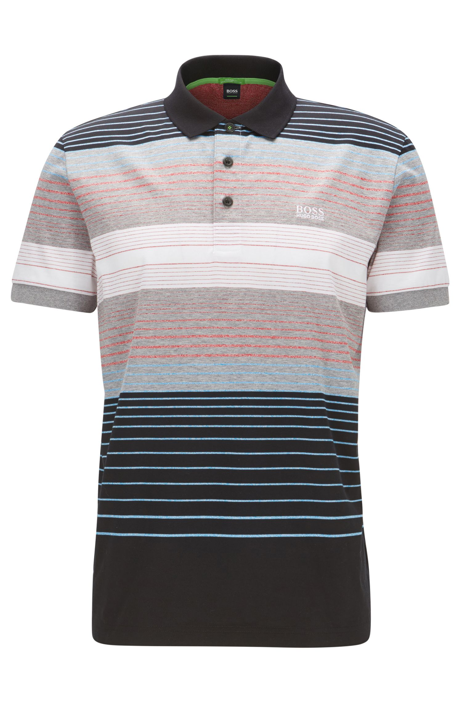 Striped Colorblocked Cotton Polo Shirt, Slim Fit | Paddy