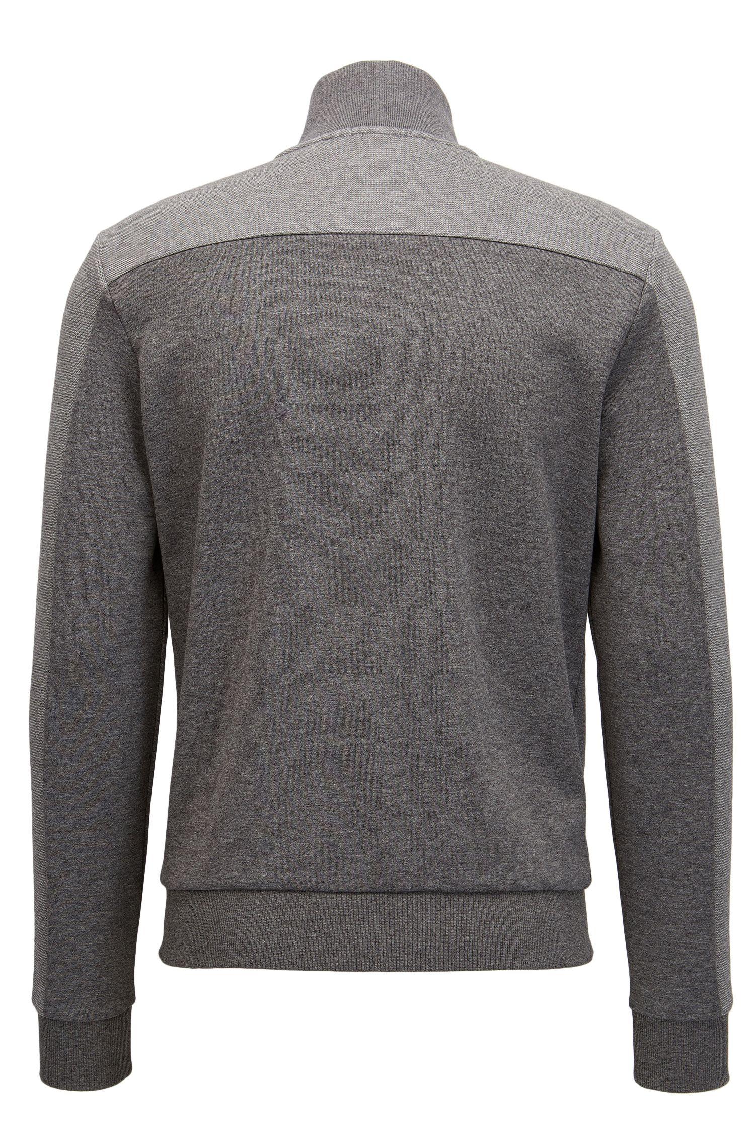 Cotton Blend Full-Zip Jacket | Skaz