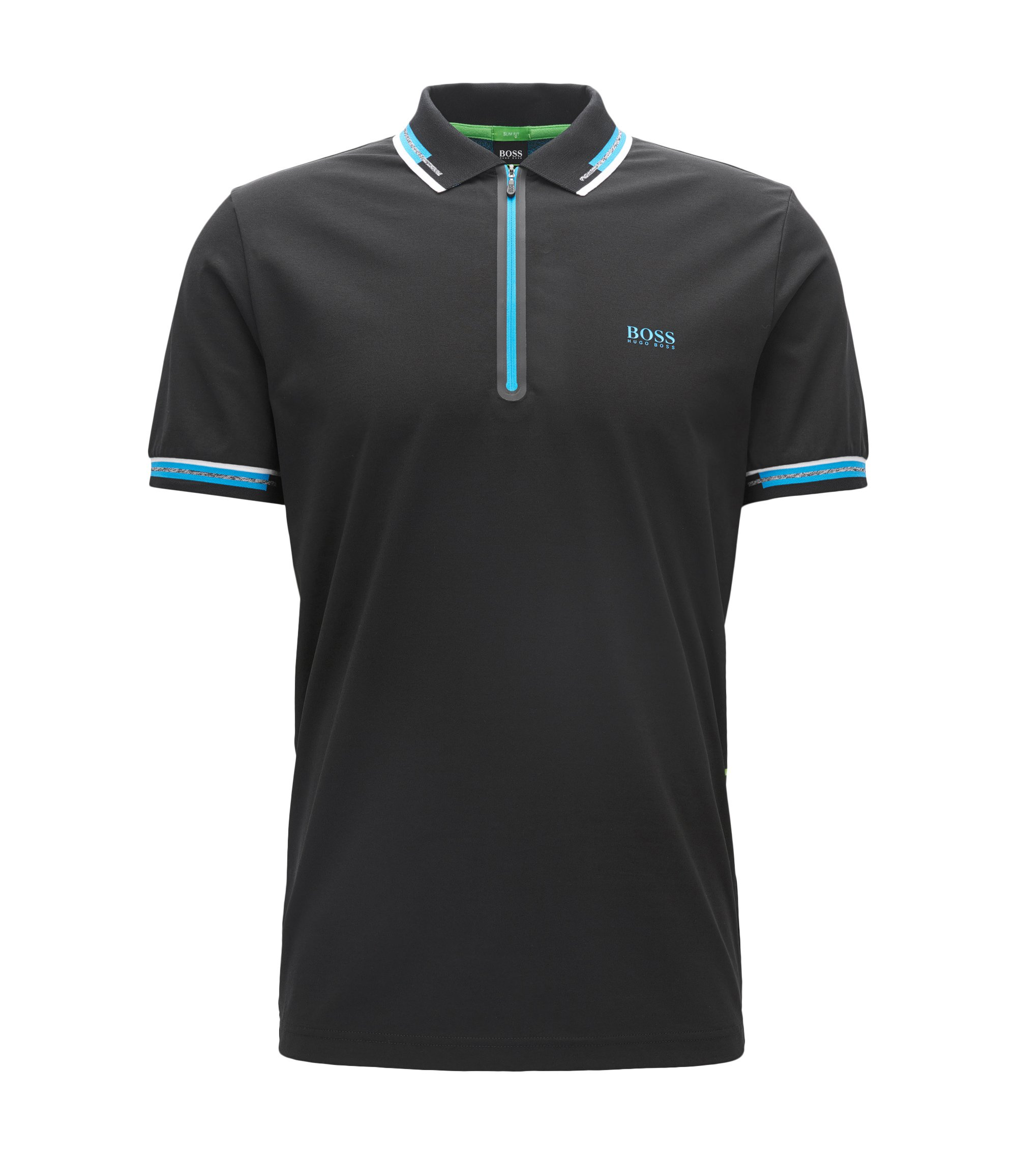 Cotton Blend Polo Shirt | Pariq, Black