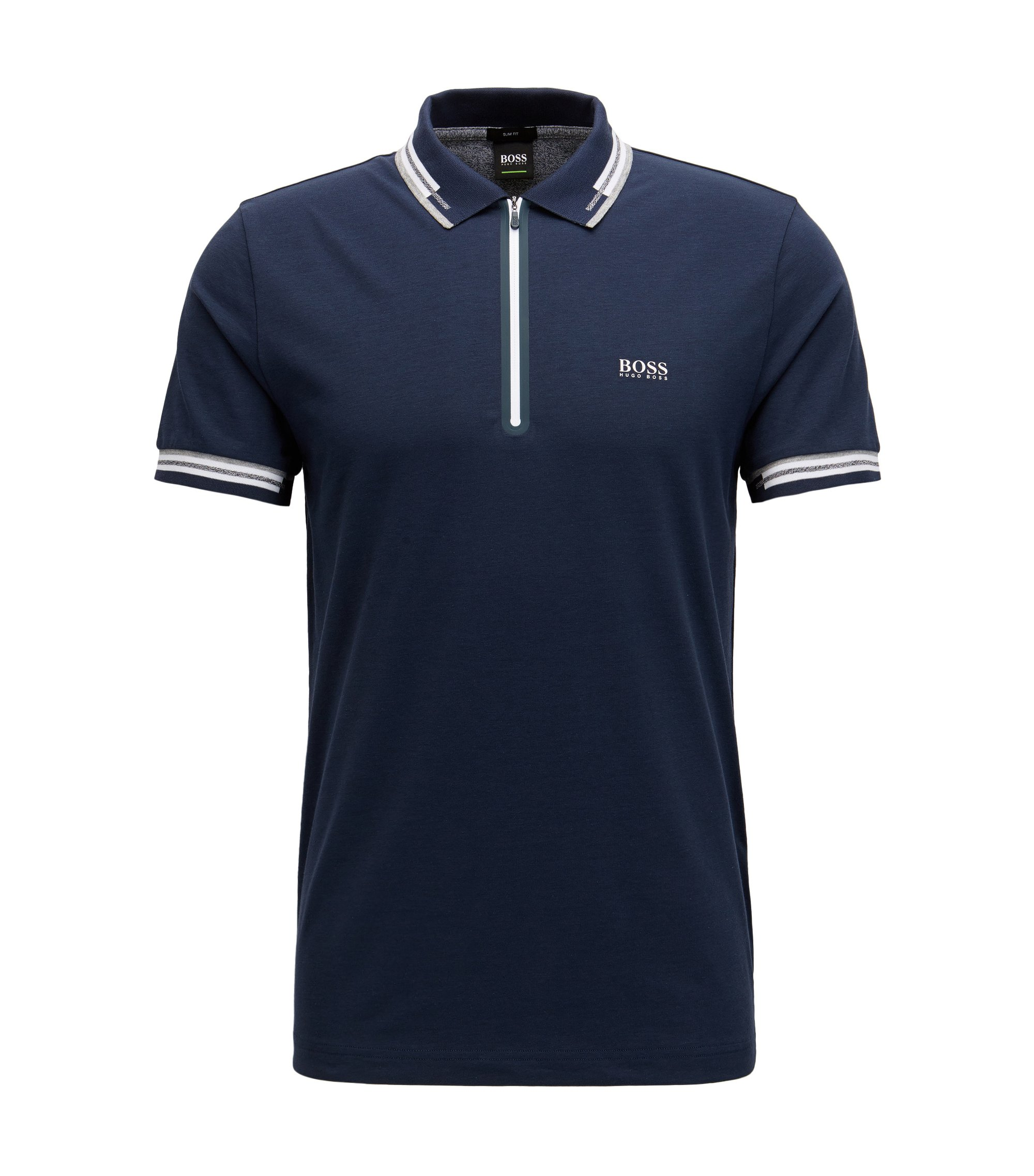 Cotton Blend Polo Shirt | Pariq, Dark Blue