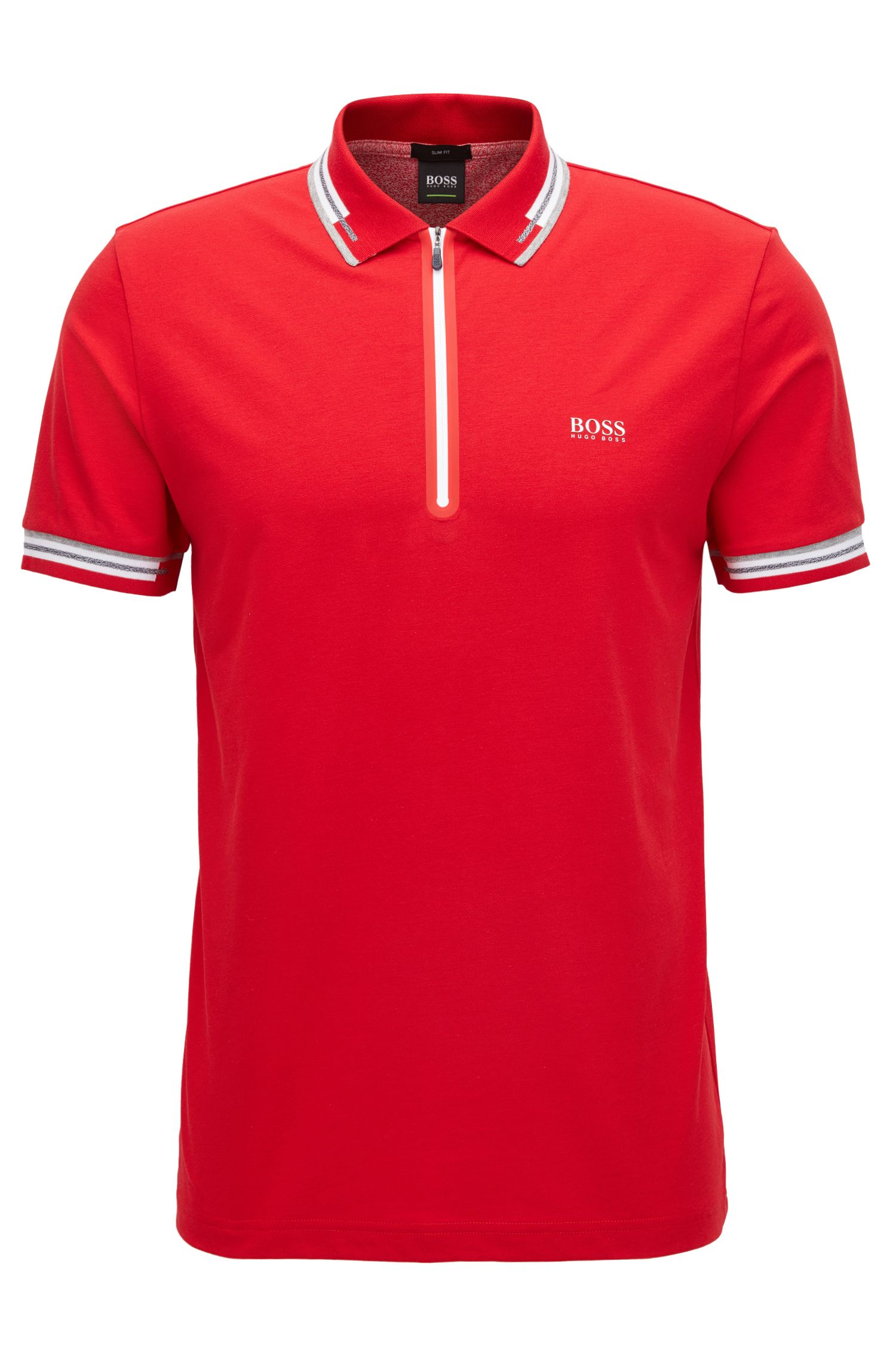 Cotton Blend Polo Shirt | Pariq, Red