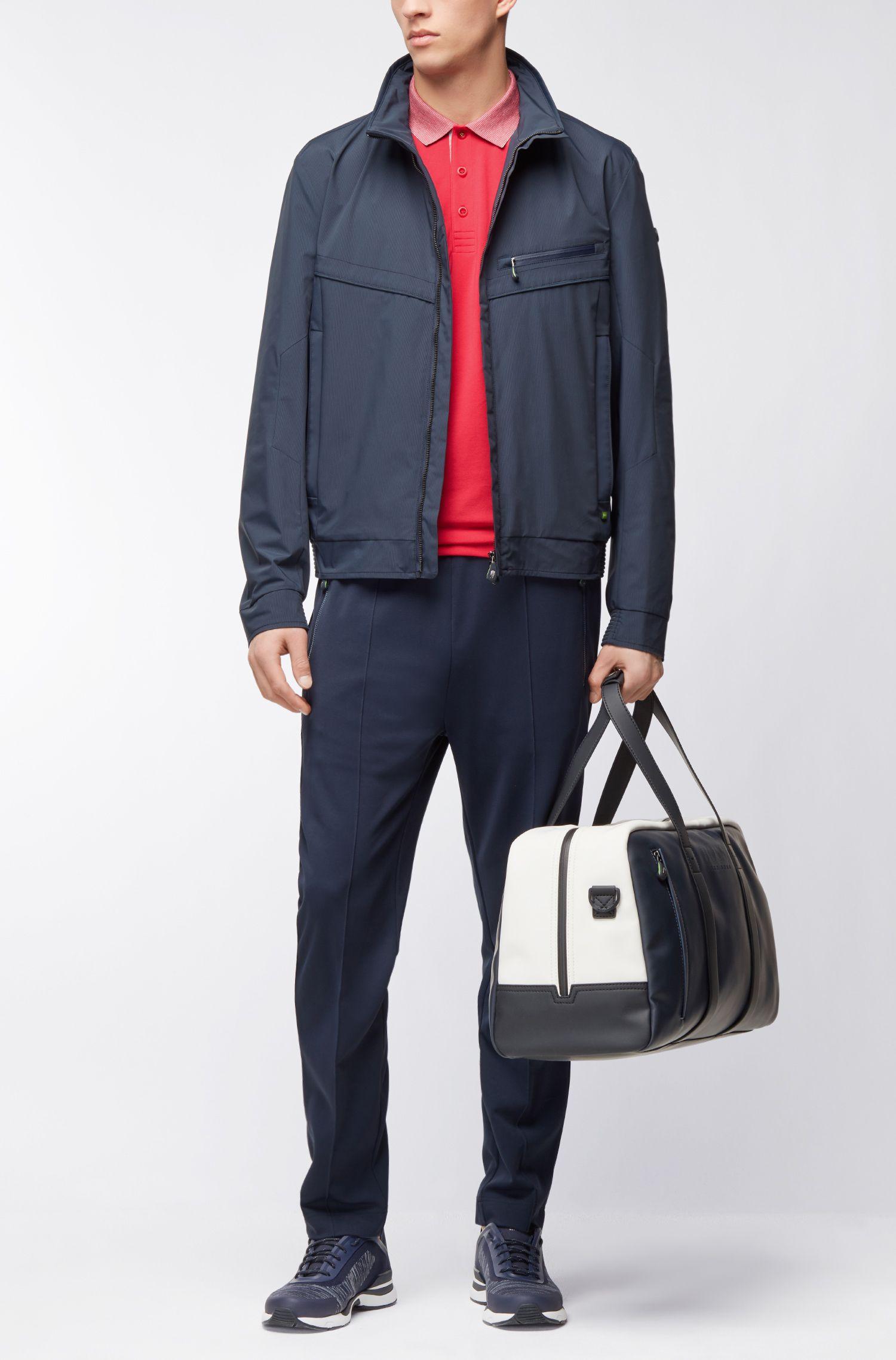 Stretch Cotton Polo Shirt, Slim Fit | Paule, Pink