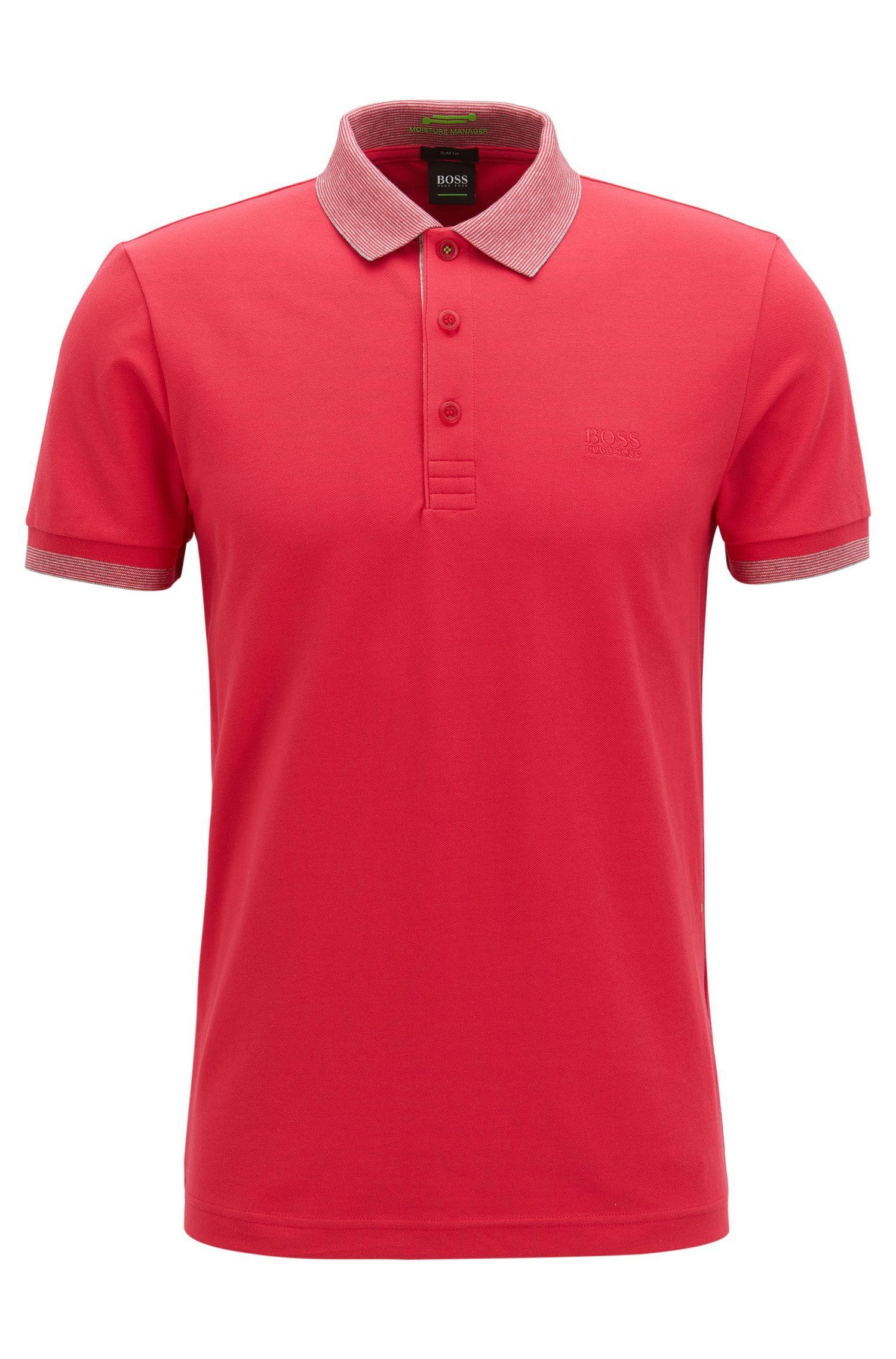 Stretch Cotton Polo Shirt, Slim Fit | Paule