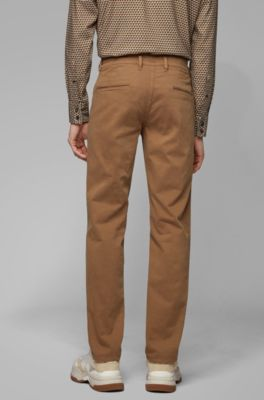 ab475dcf Slim-fit casual chinos in brushed stretch cotton