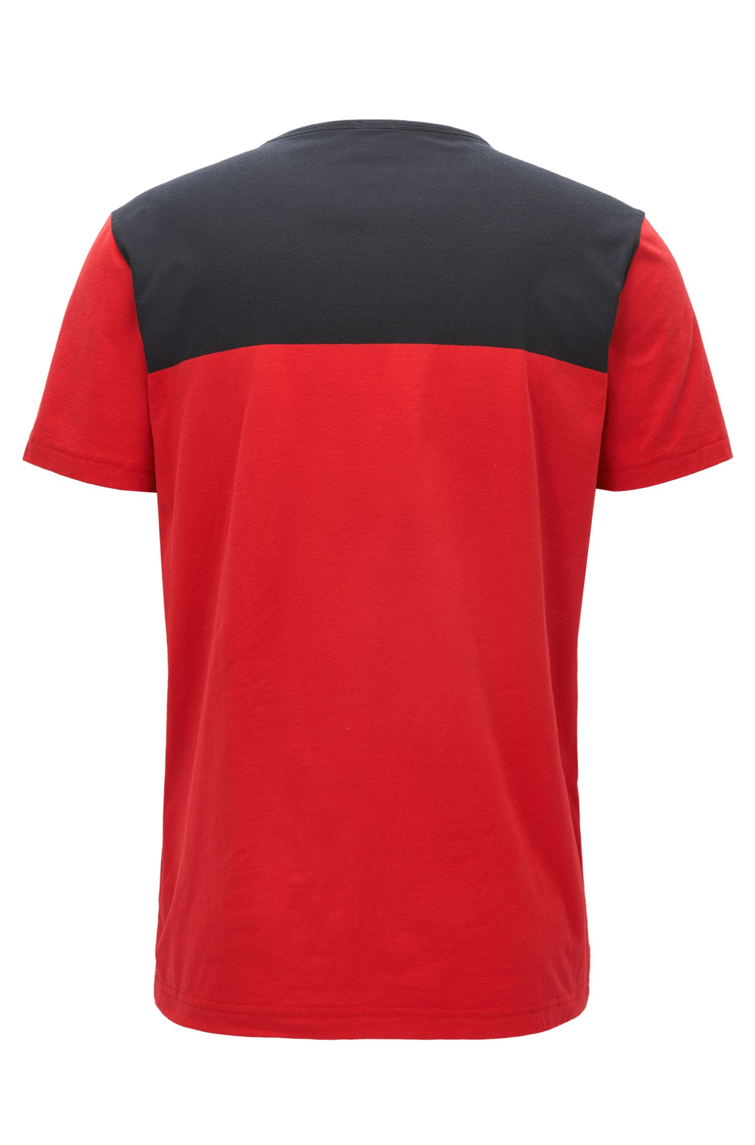 Logo Colorblocked T-Shirt | Tee, Red