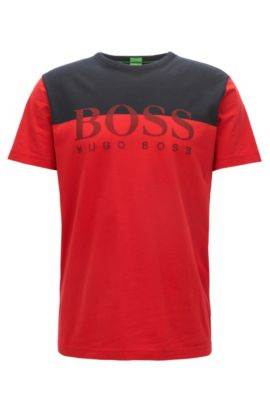 Logo Colorblocked T-Shrit   Tee, Red