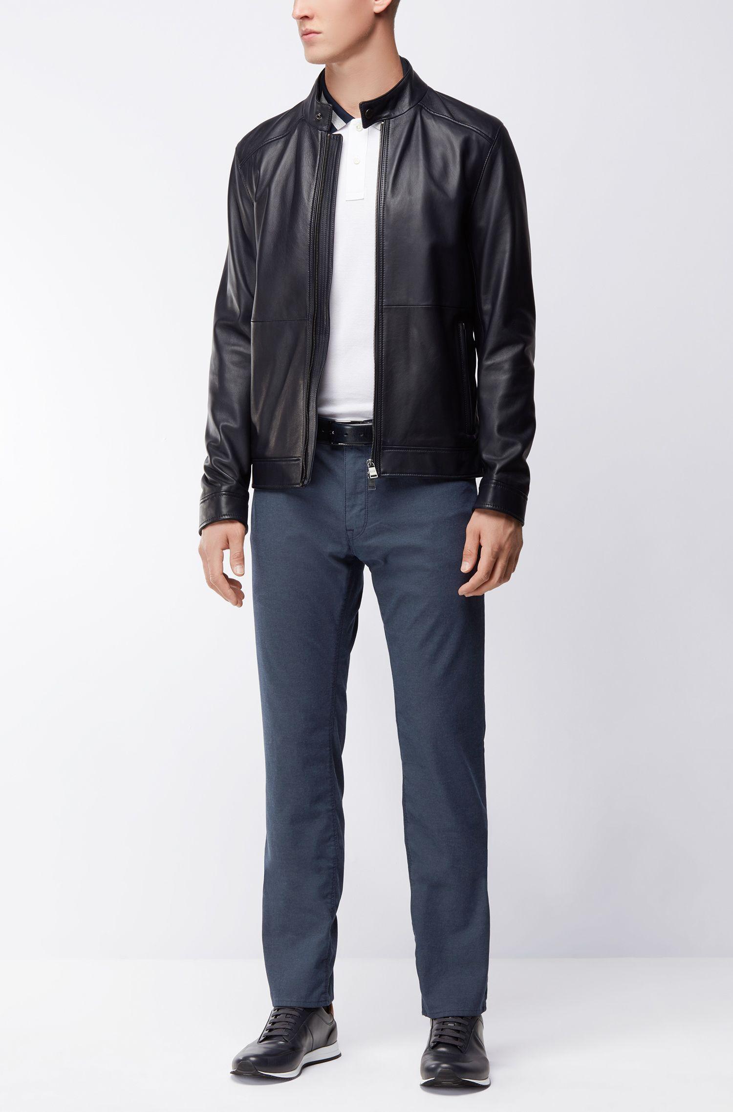 Stretch Cotton Pant, Regular Fit | Maine, Dark Blue