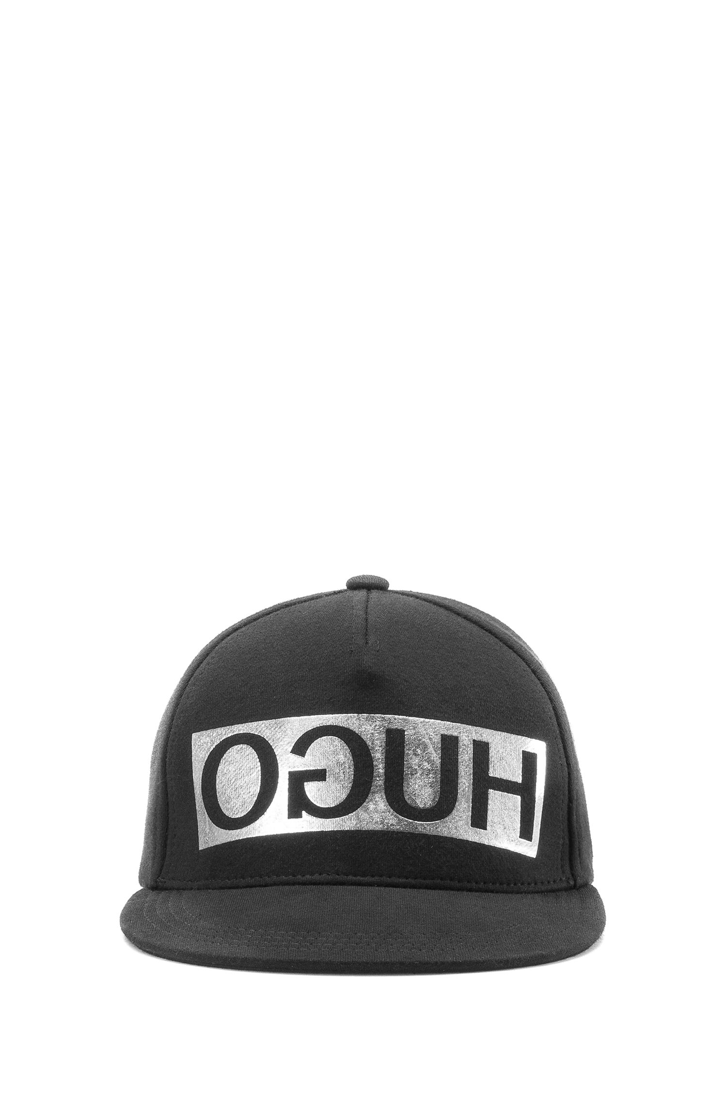 Reverse Logo Flat-Brim Cap | Men X, Silver