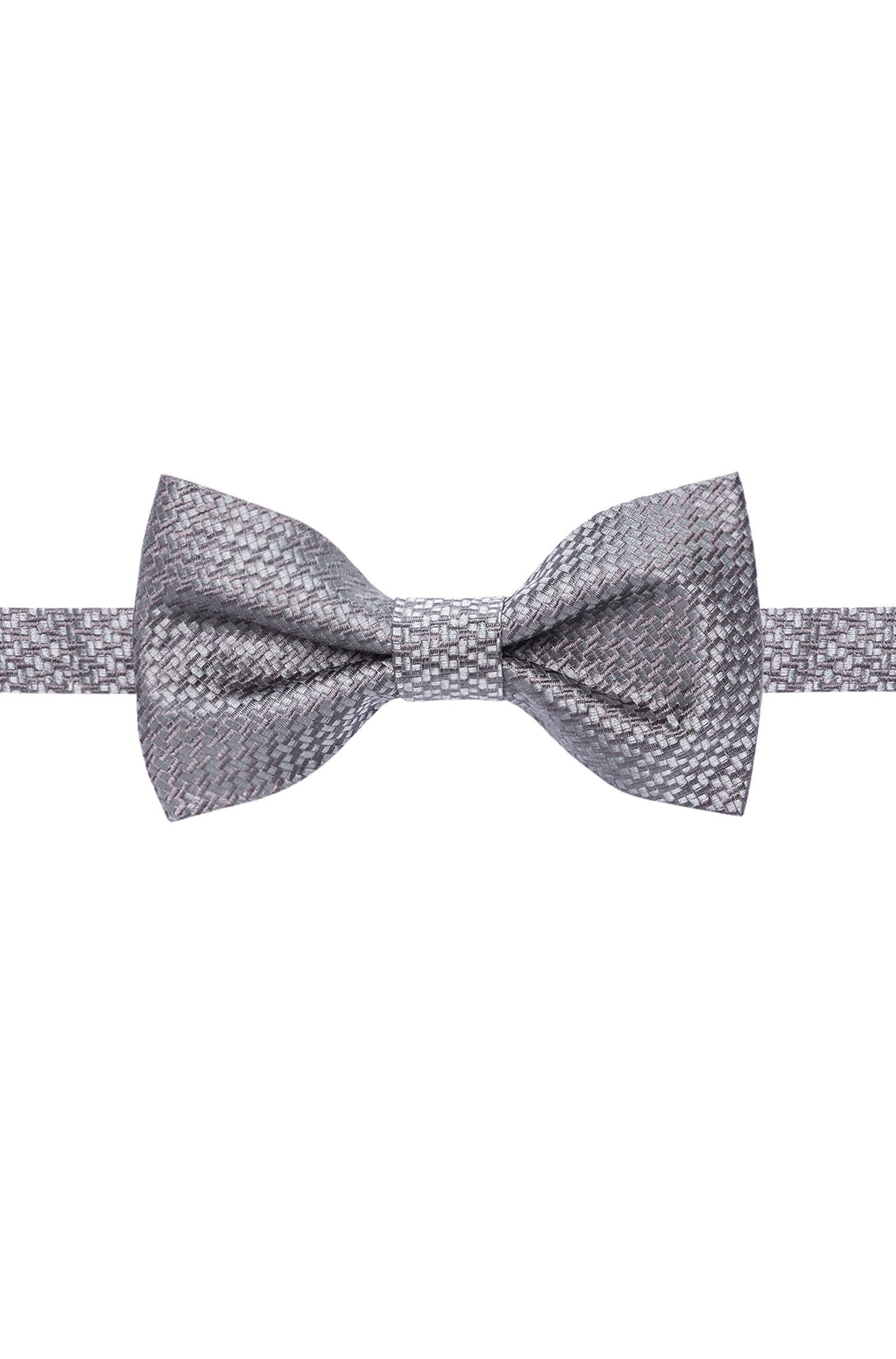 Basketweave Italian Silk Bow Tie